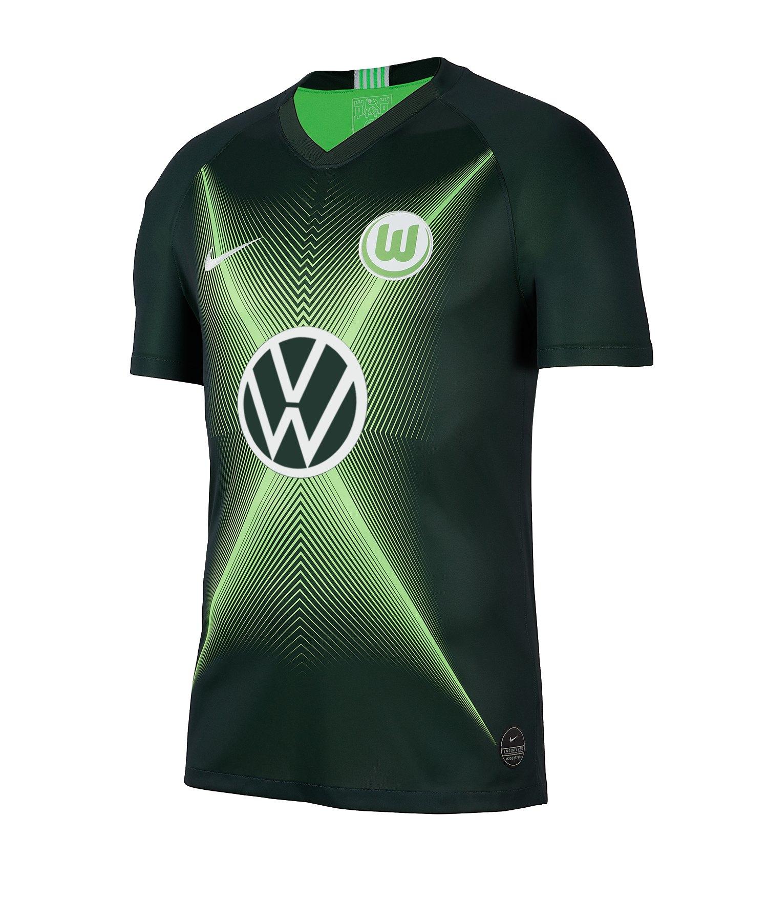 Nike VfL Wolfsburg Trikot Home 2019/2020 Kids F398 - gruen