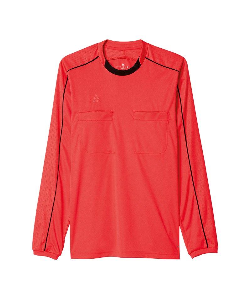 adidas Trikot langarm Referee 16 Rot Schwarz - pink