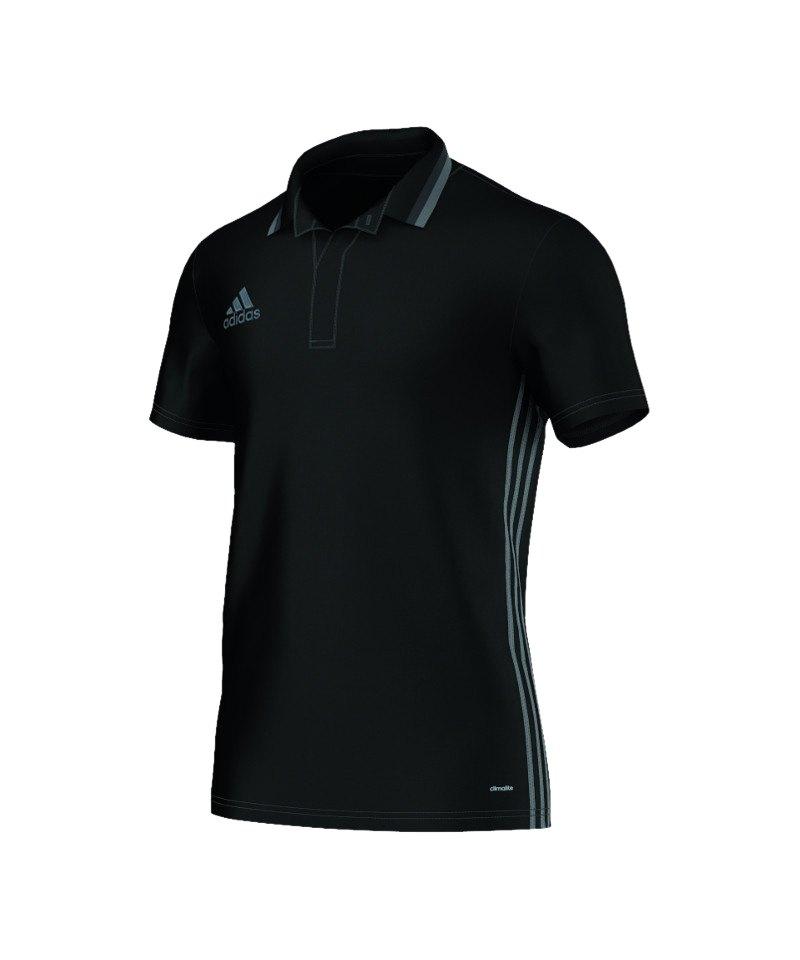 adidas CL Poloshirt Condivo 16 Schwarz Grau - schwarz