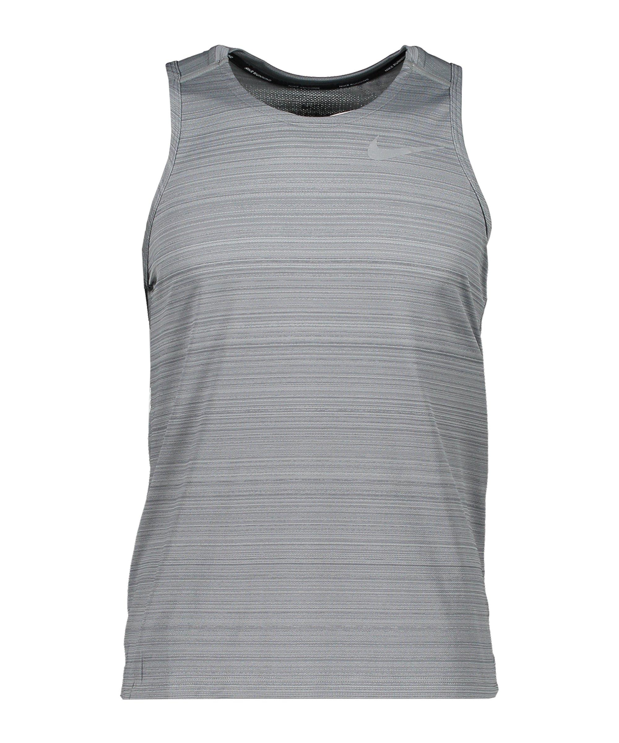 Nike Dri-FIT Miler Tanktop Running Grau F084 - grau