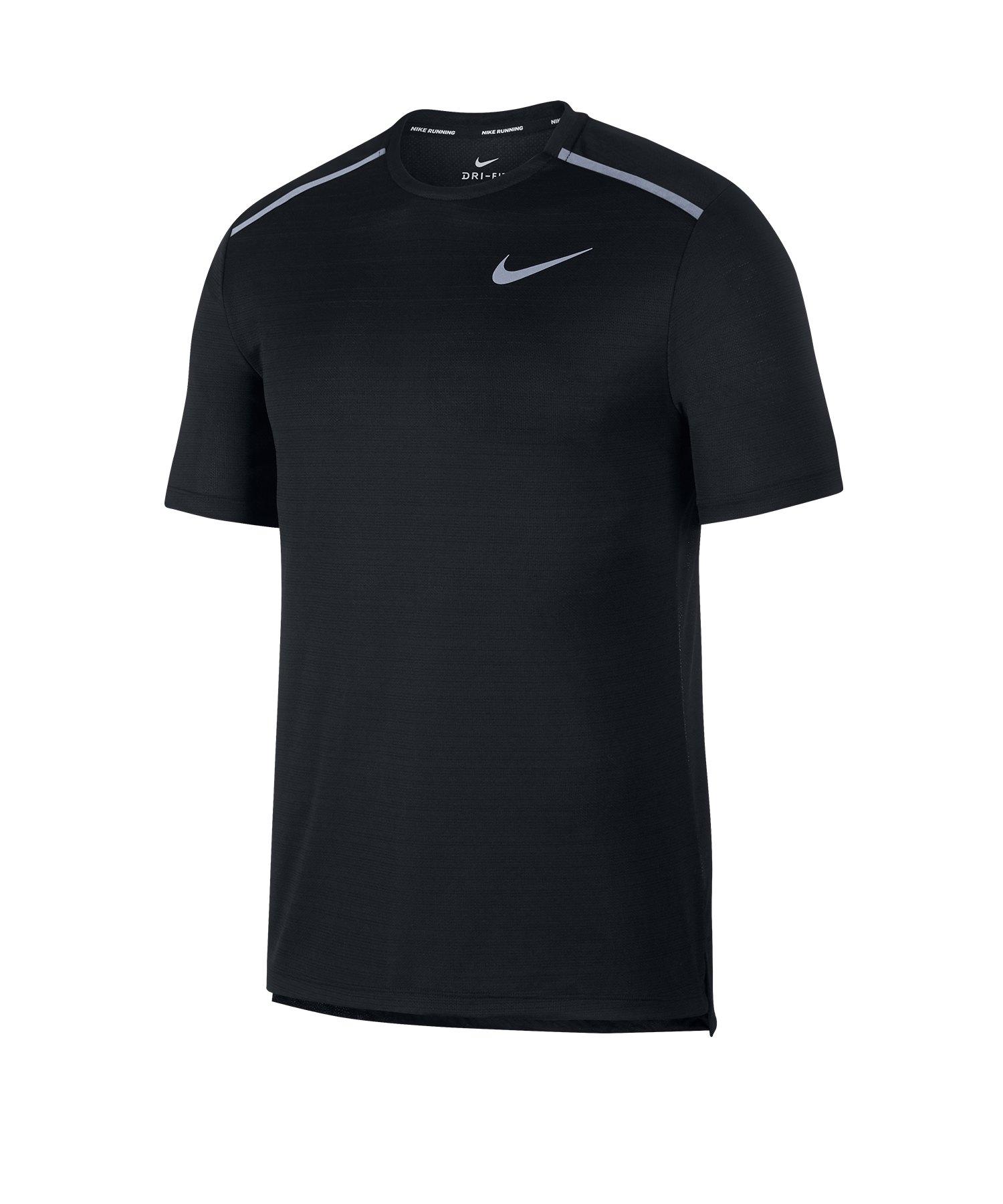 Nike Dry Miler T-Shirt Schwarz F010 - schwarz