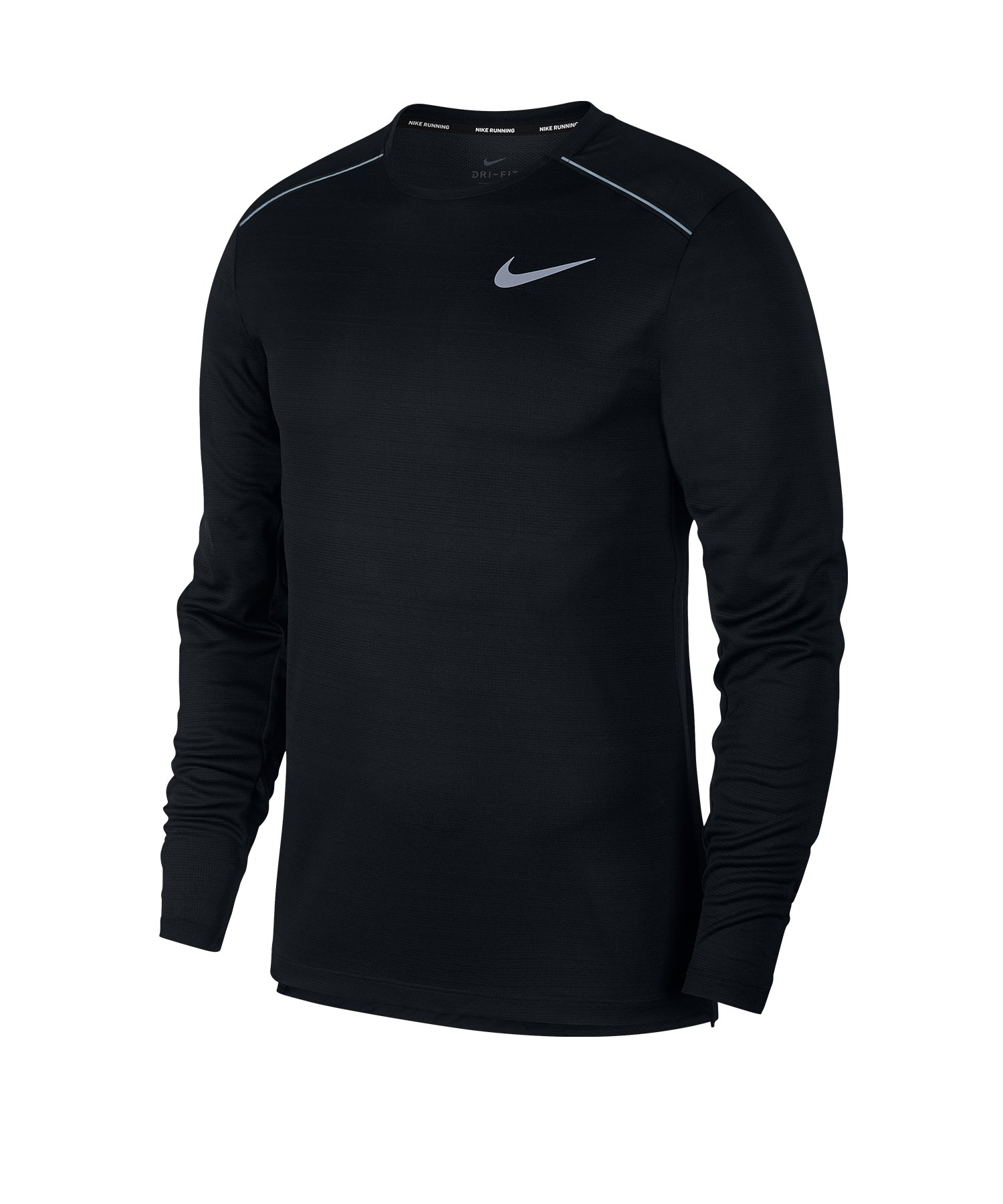 Nike Dry Miler Sweatshirt Running Schwarz F010 - schwarz