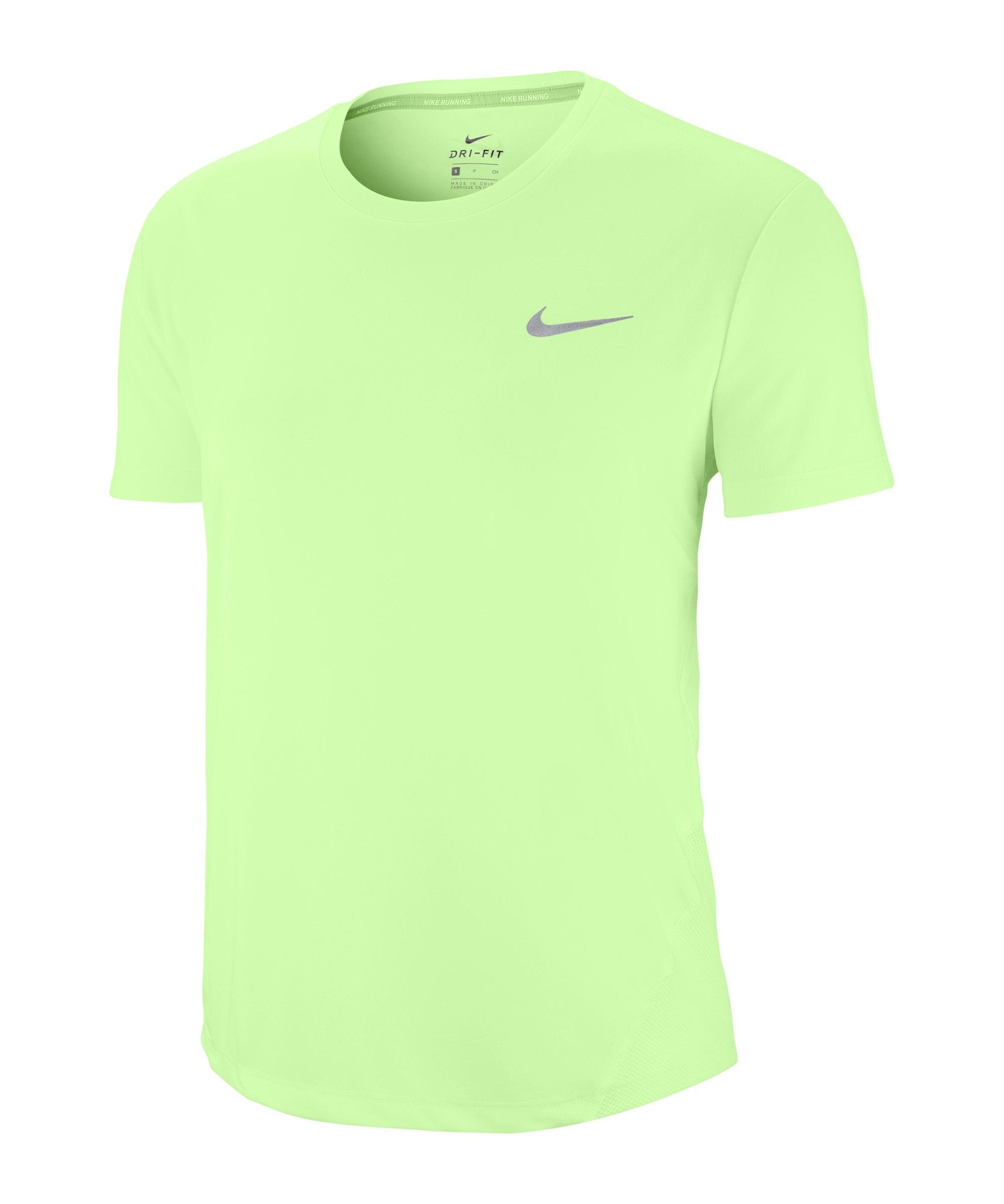 Nike Miler T-Shirt Running Damen Gelb F701 - gelb