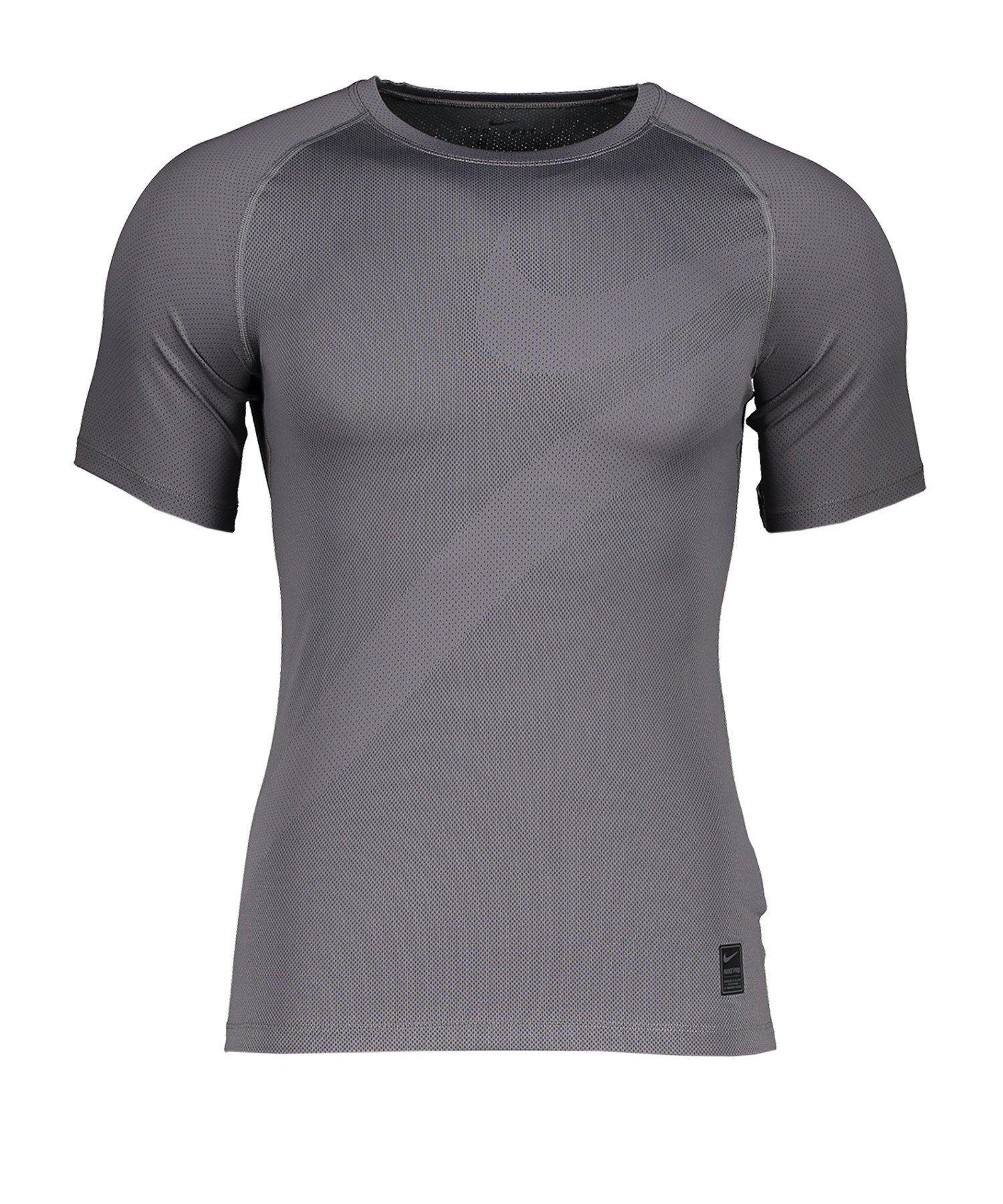 Nike Pro Shortsleeve Shirt Grau F056 - grau