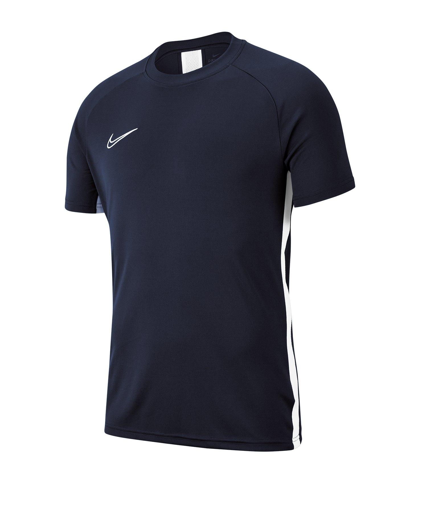 Nike Academy 19 Trainingstop T-Shirt Blau F451 - blau