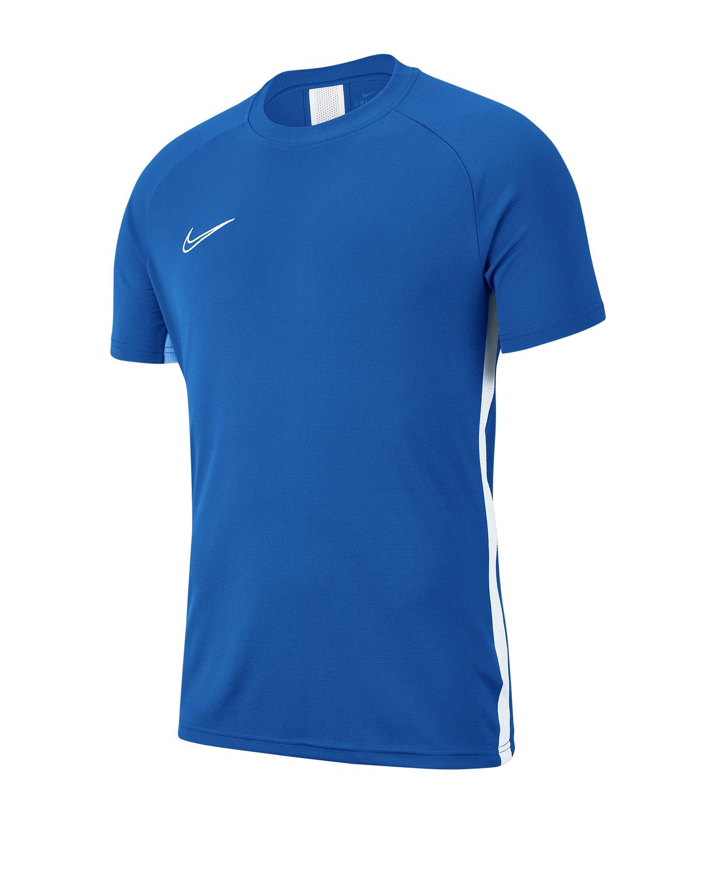 Nike Academy 19 Trainingstop T-Shirt Blau F463 - blau