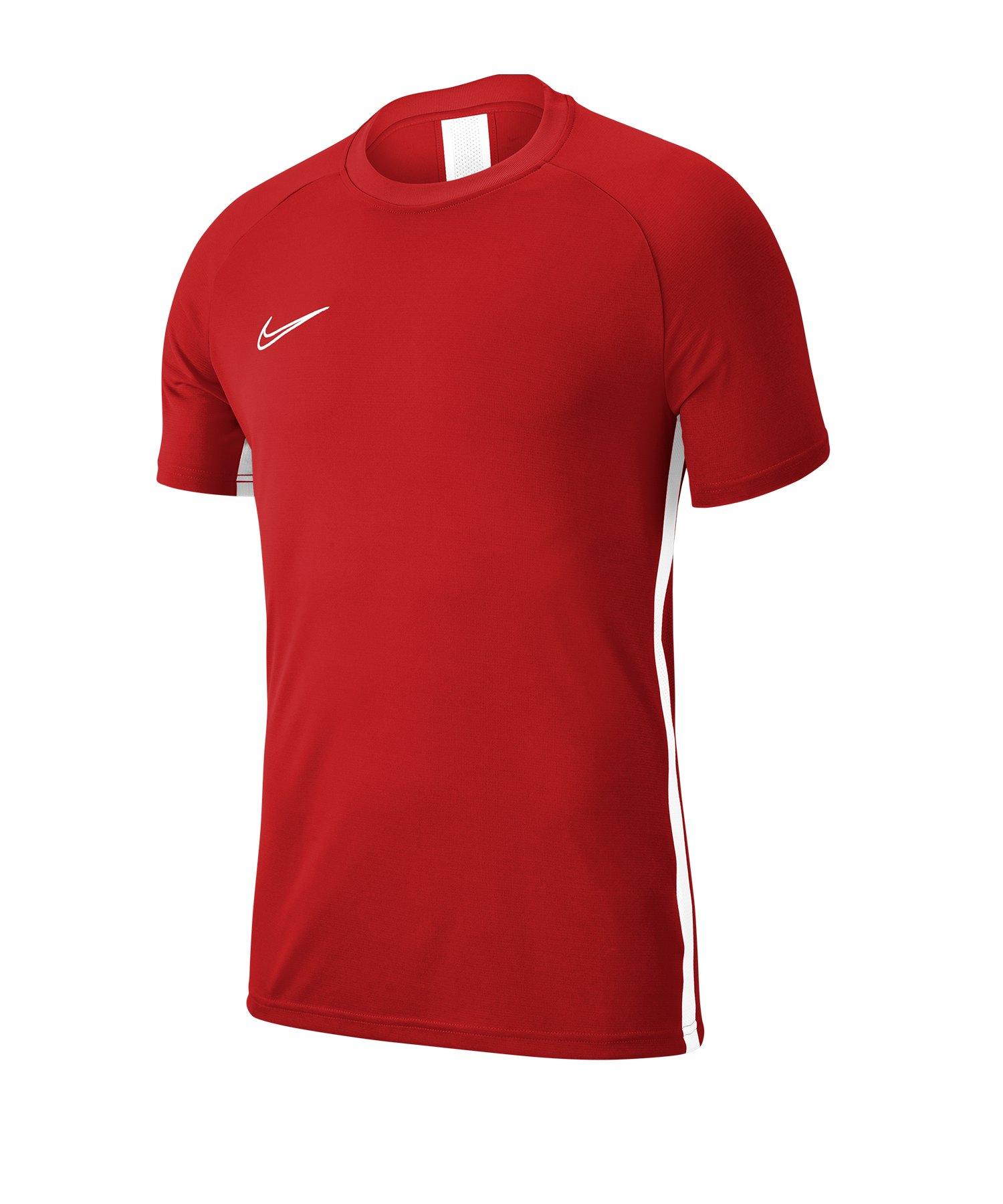 Nike Academy 19 Trainingstop T-Shirt Rot F657 - rot