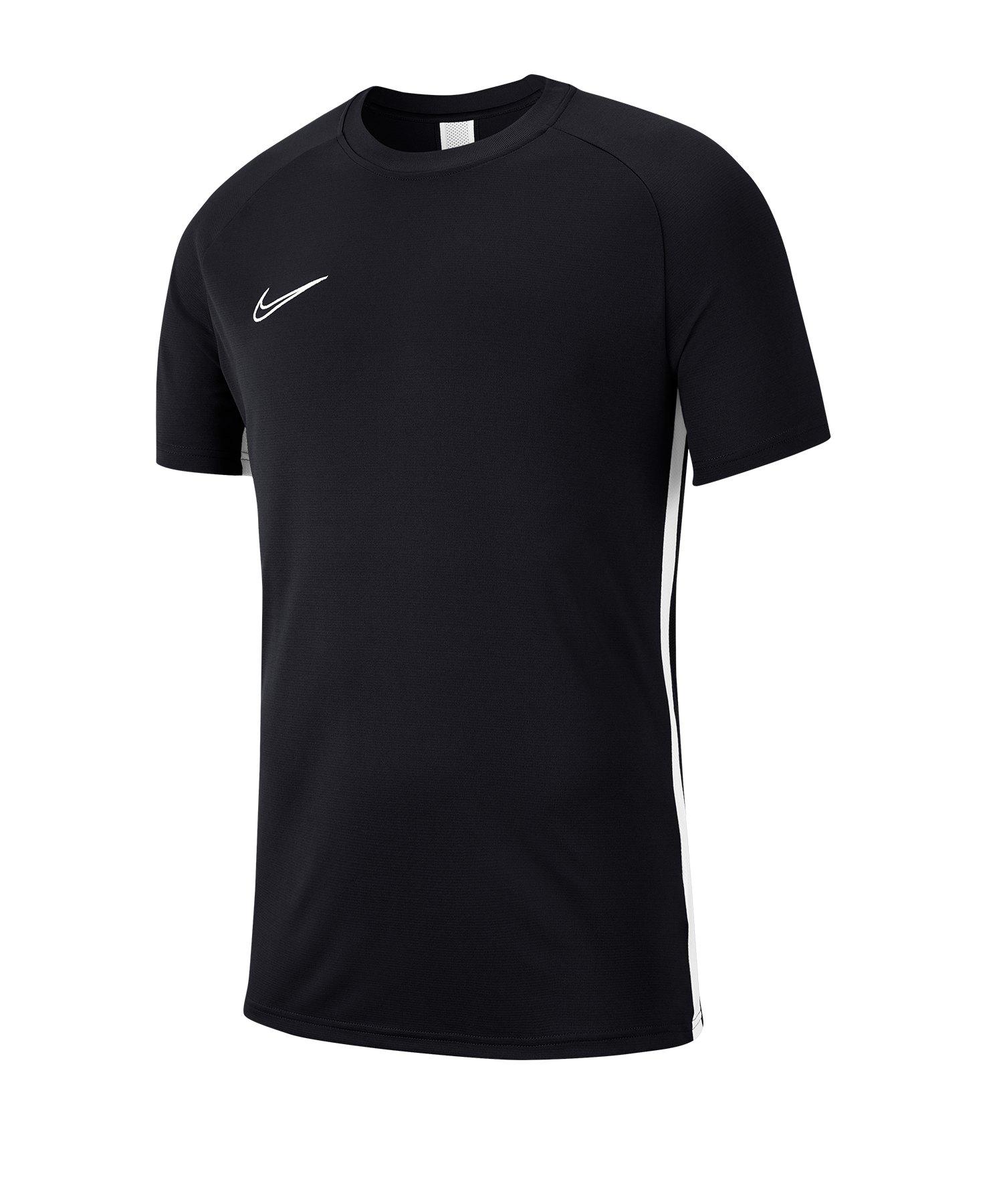 Nike Academy 19 Trainingstop T-Shirt Schwarz F010 - schwarz