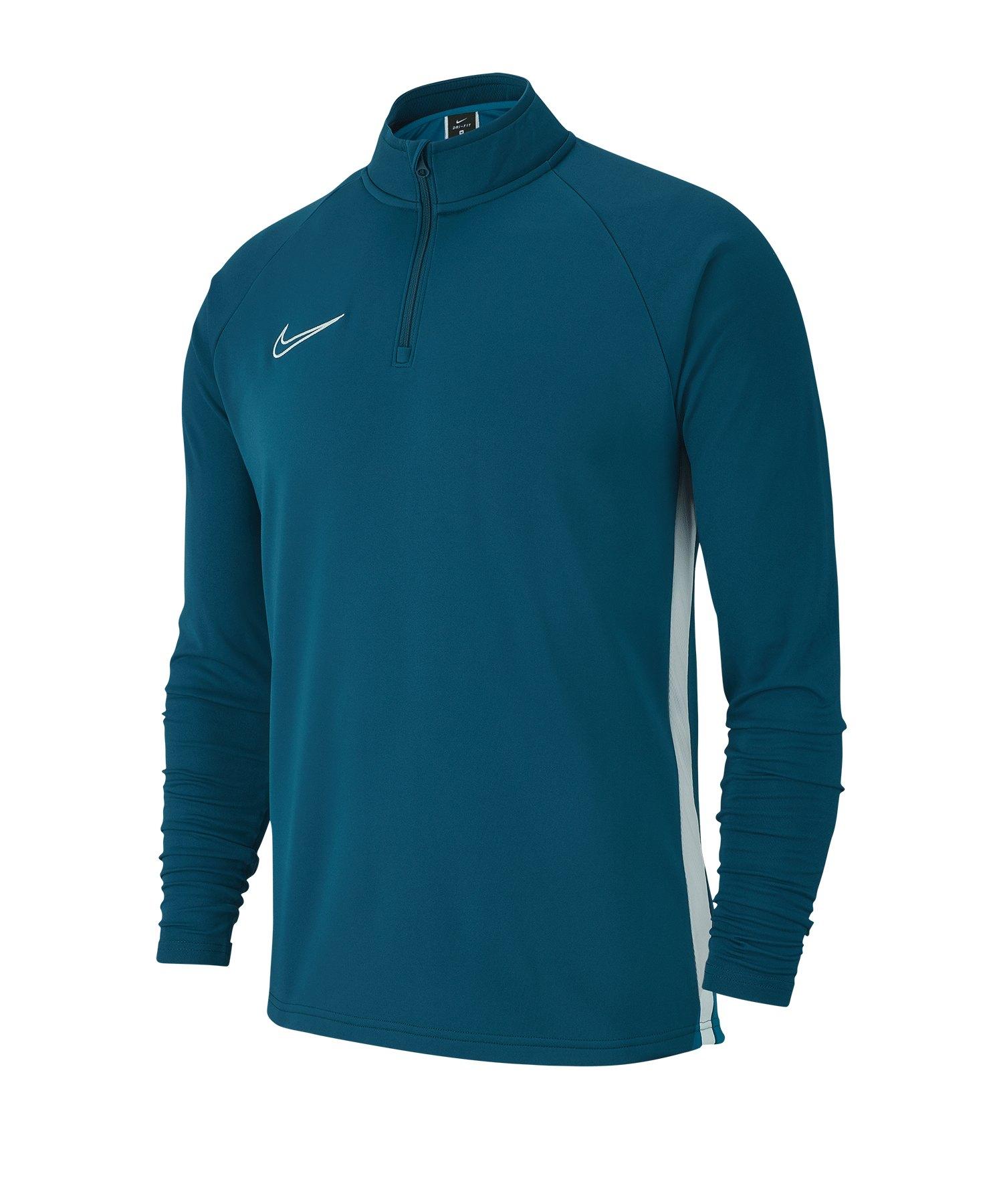 Nike Academy 19 1/4 Zip Drill Top Blau F404 - blau