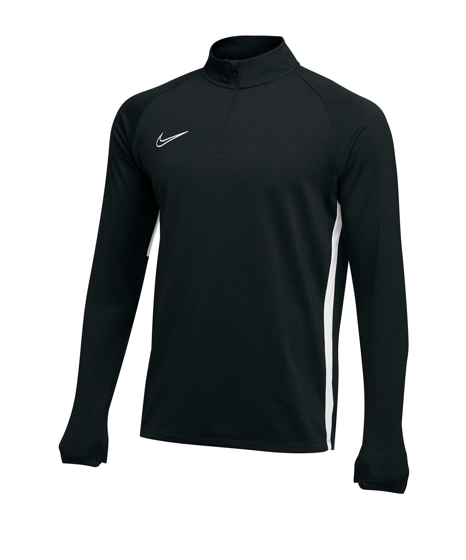 Nike Academy 19 1/4 Zip Drill Top Schwarz F010 - schwarz