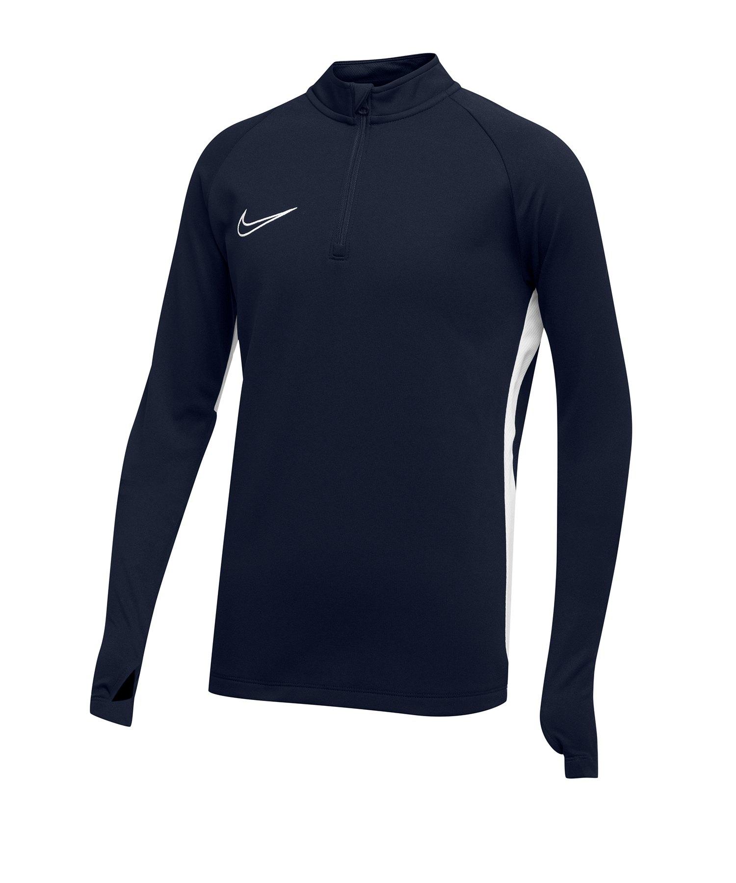 Nike Academy 19 1/4 Zip Drill Top Kids Blau F451 - Blau