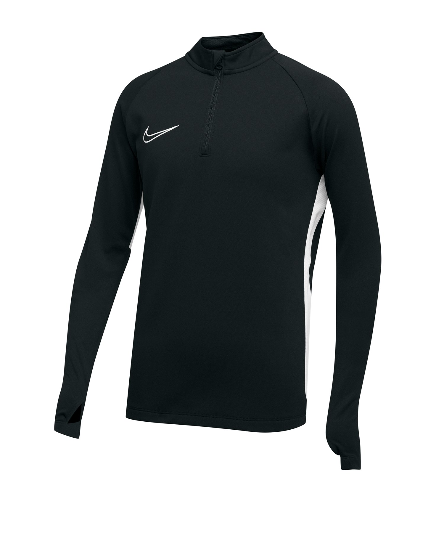 Nike Academy 19 1/4 Zip Drill Top Kids F010 - Schwarz