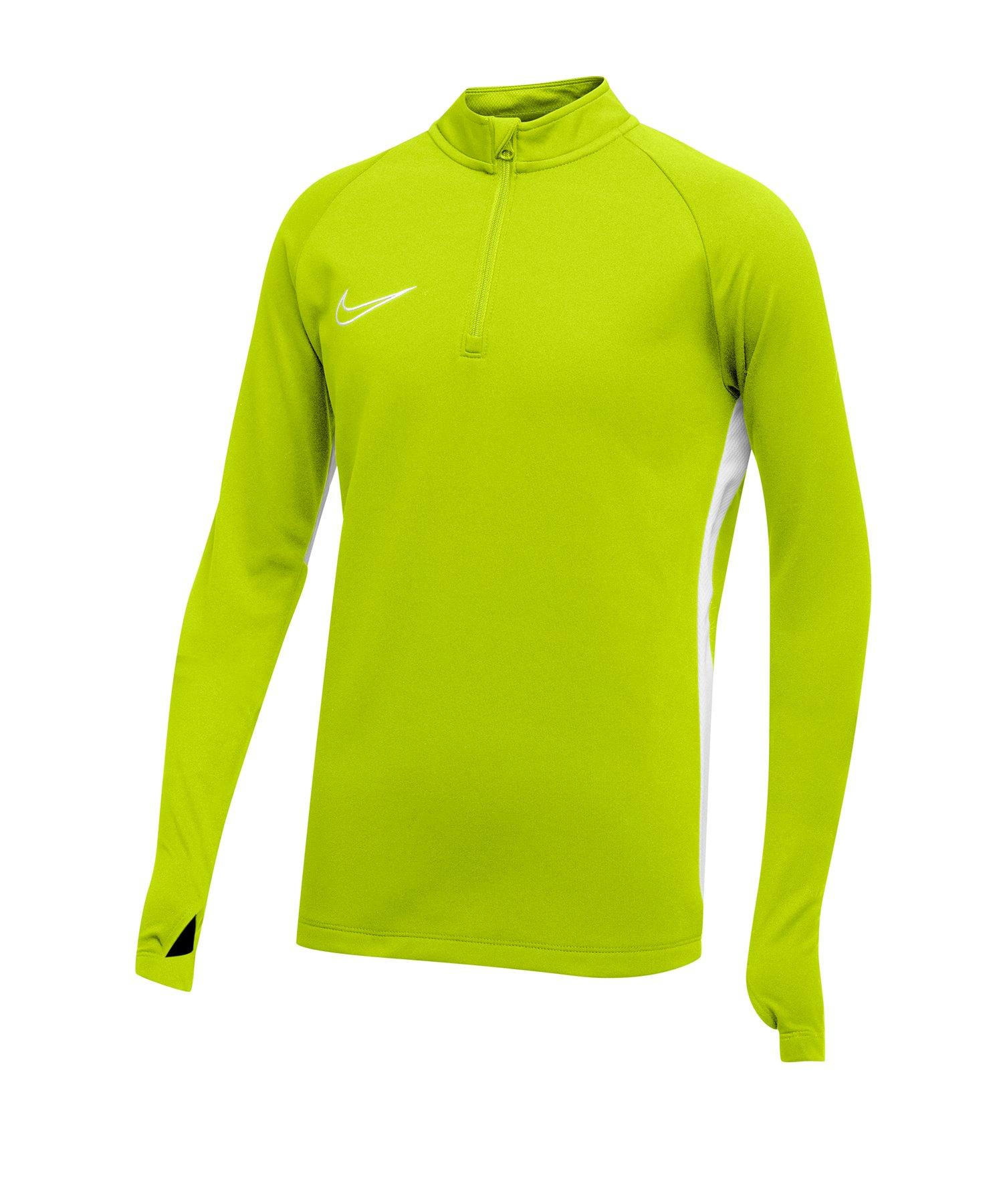 Nike Academy 19 1/4 Zip Drill Top Kids F702 - gruen