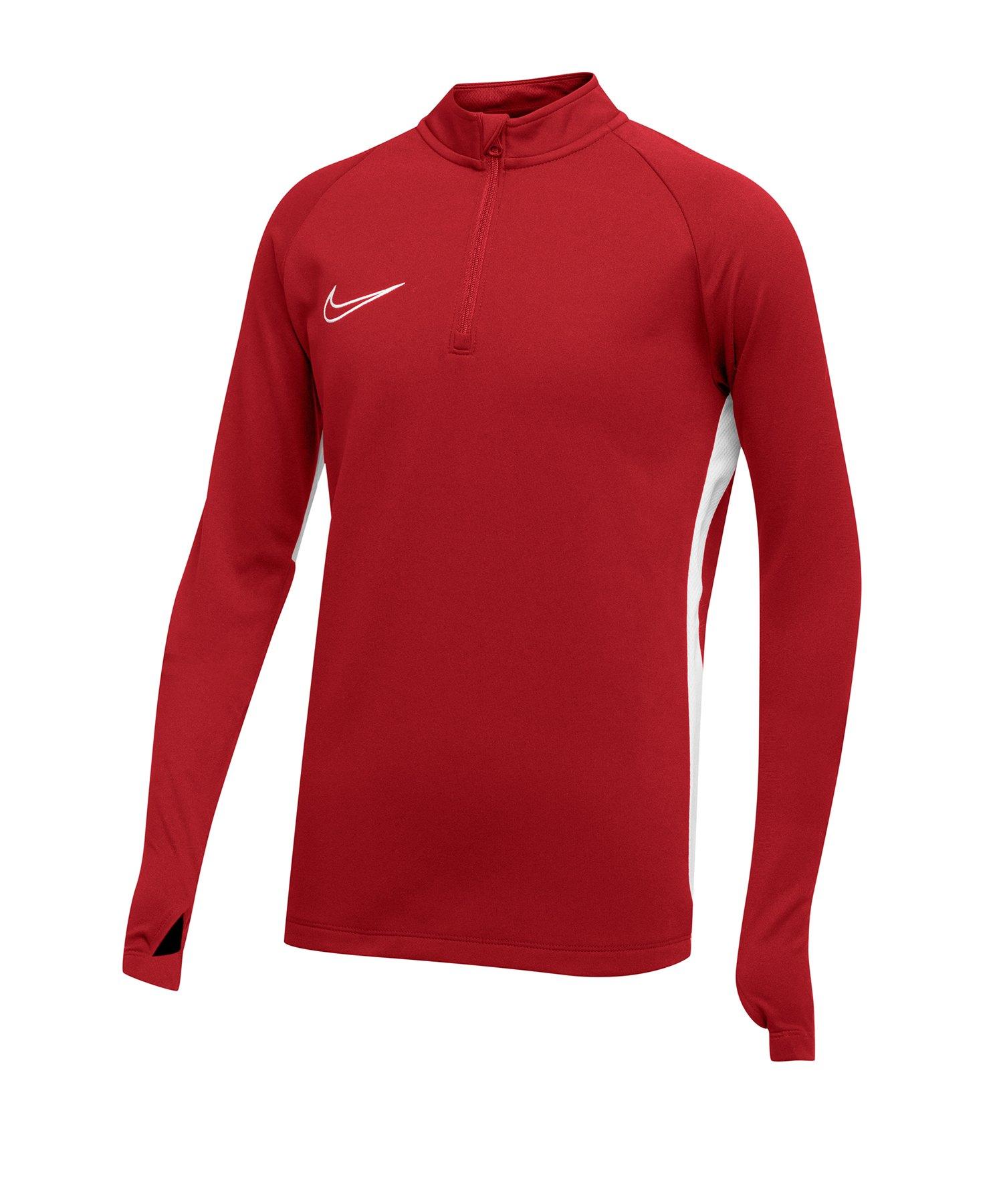 Nike Academy 19 1/4 Zip Drill Top Kids Rot F657 - Rot
