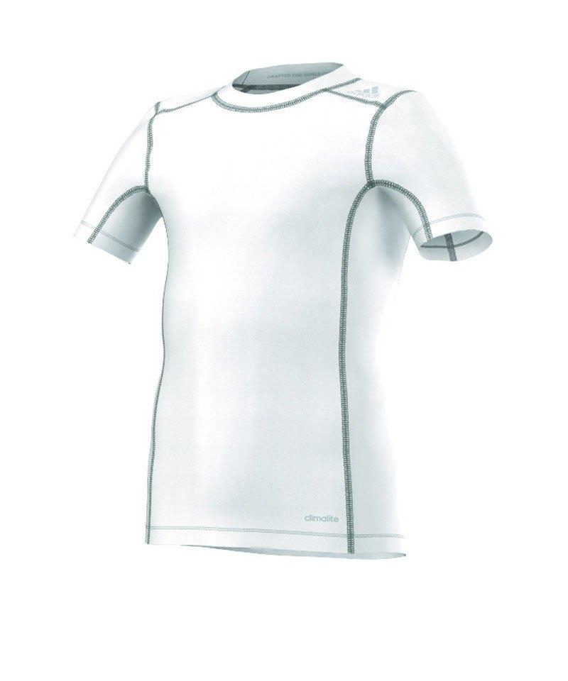 adidas Tech Kurzarmshirt Kinder Fit Base Tee Weiss - weiss