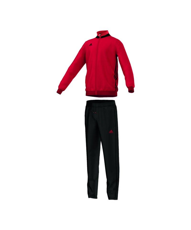 adidas Trainingsanzug Condivo 16 Kinder Rot - rot