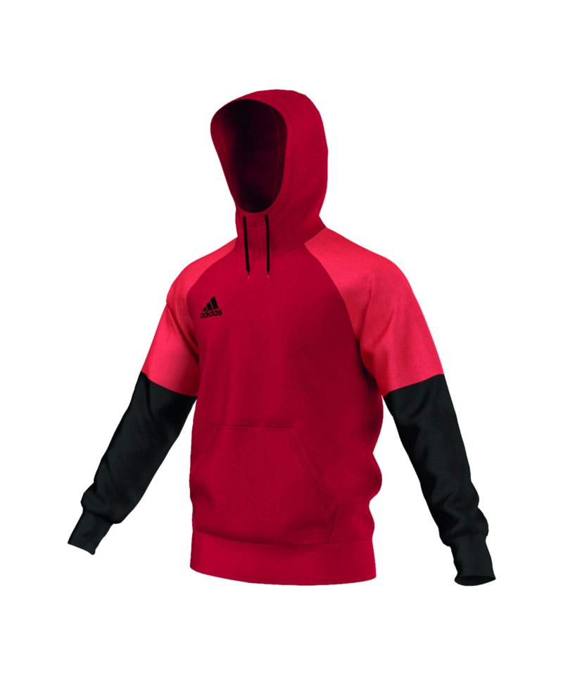 adidas Hoody Condivo 16 Rot Schwarz - rot