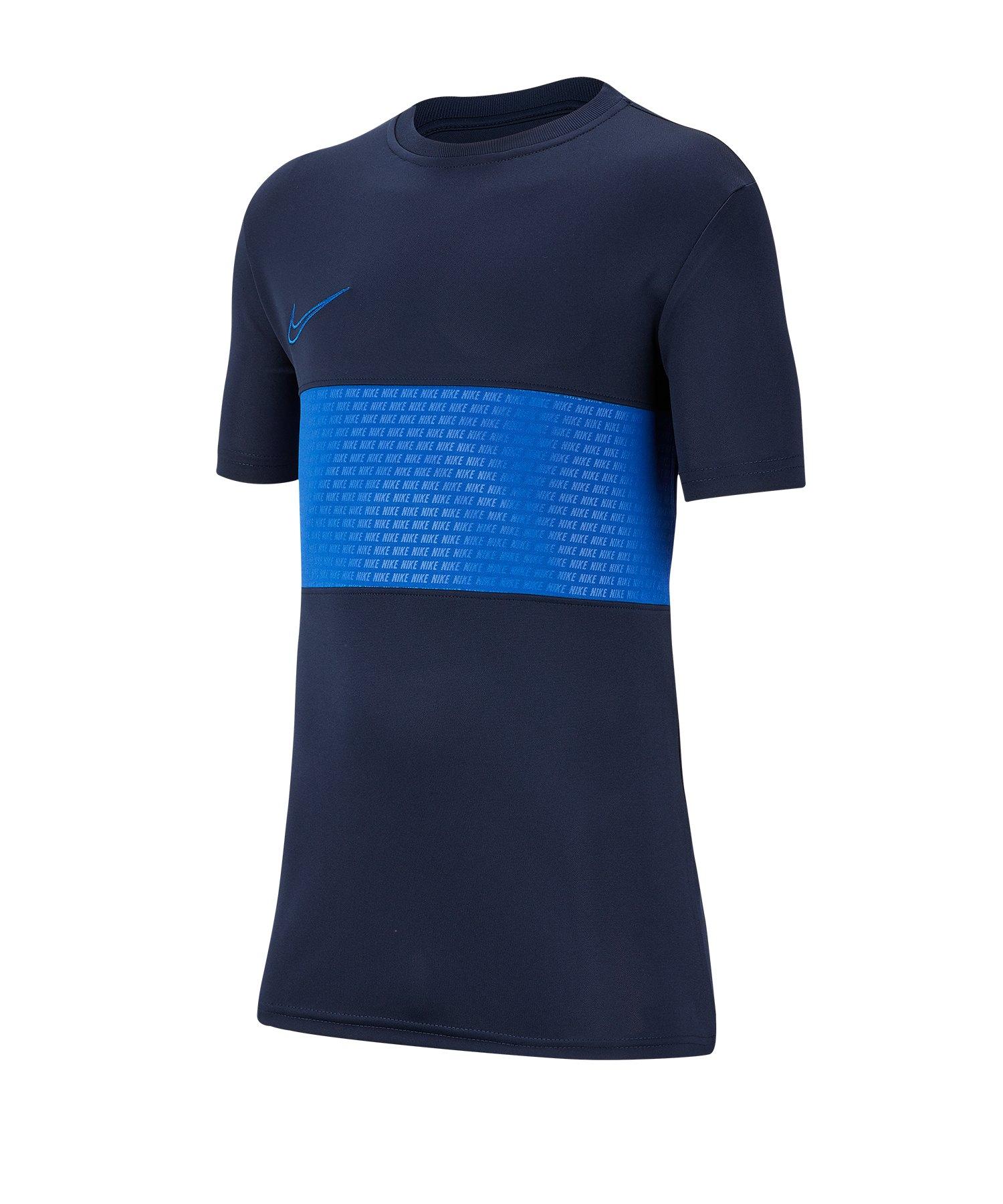 Nike Dri-FIT Academy Tee T-Shirt Kids Blau F452 - Blau
