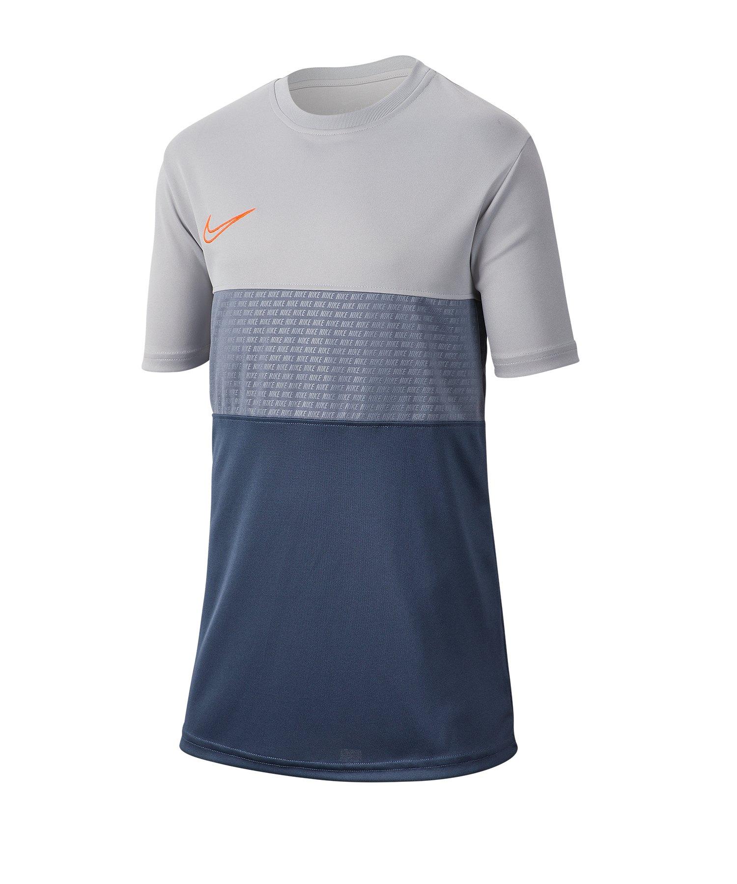Nike Dri-FIT Academy Tee T-Shirt Kids Grau F012 - Grau