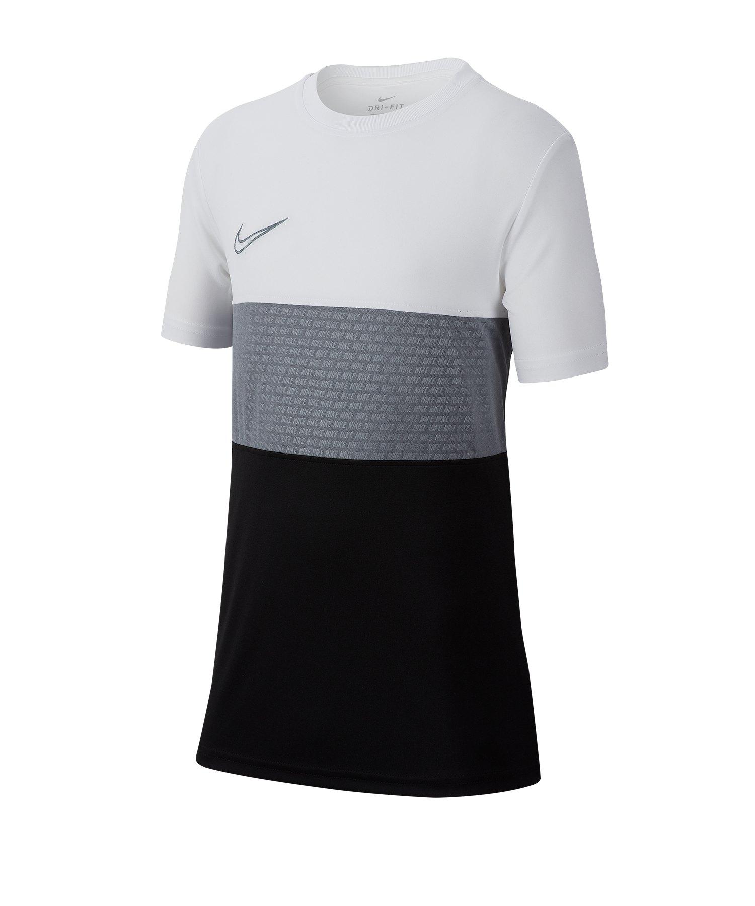 Nike Dri-FIT Academy Tee T-Shirt Kids Weiss F102 - Weiss