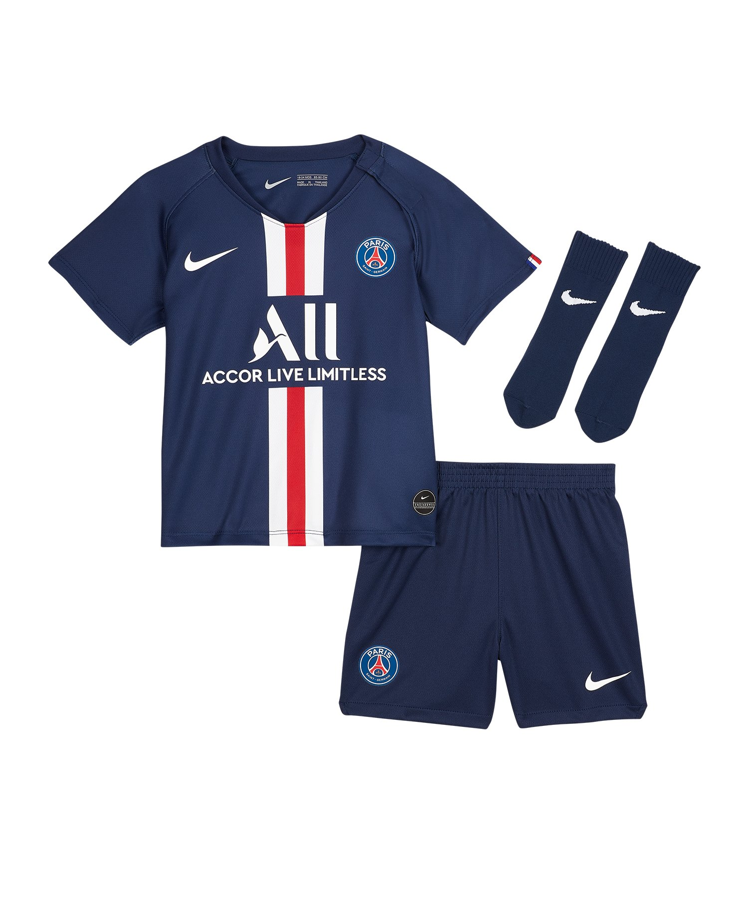 Nike Paris St. Germain Home 19/20 Babykit F411 - blau