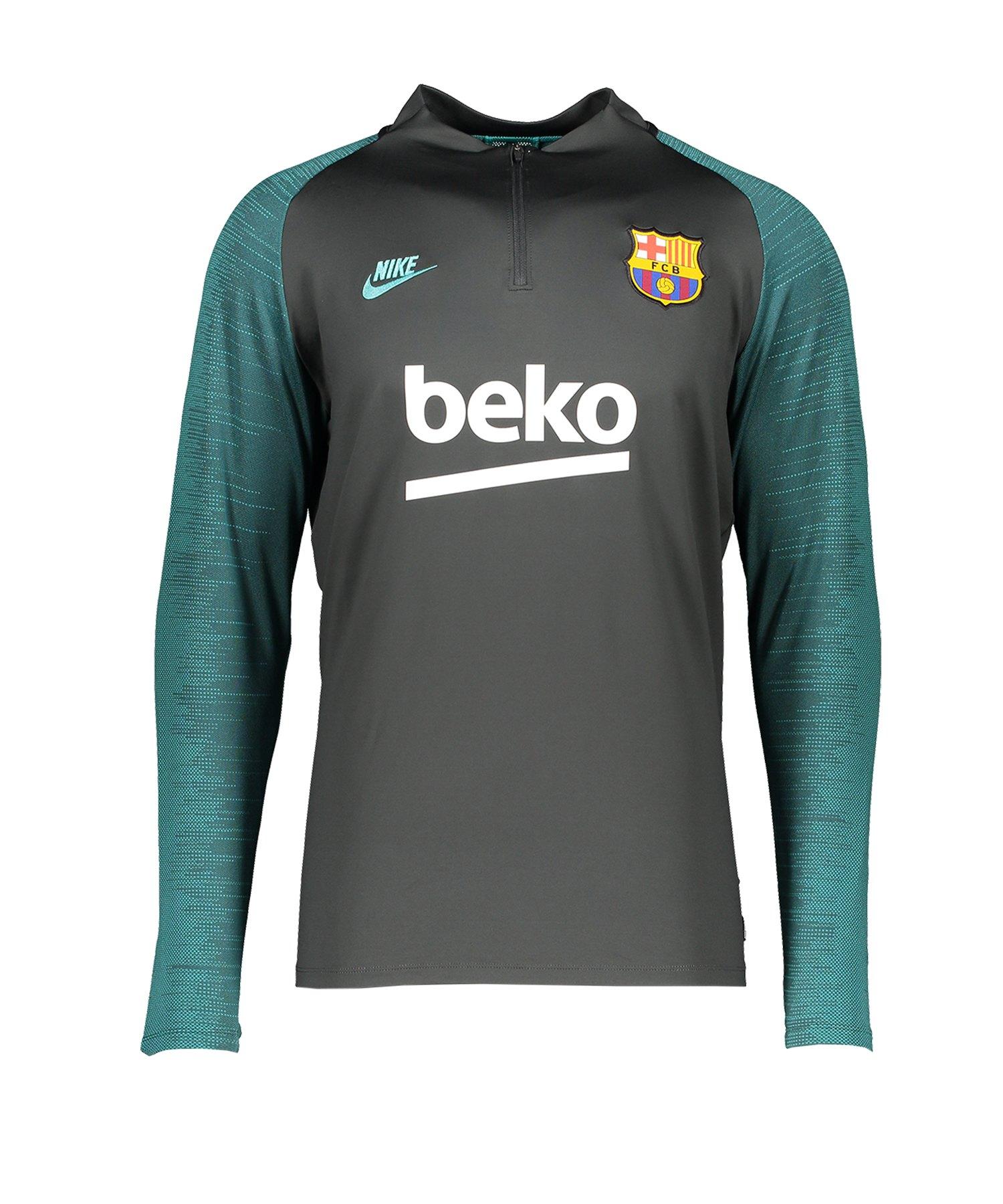 Nike FC Barcelona Dry Drill Top langarm Grau F070 - grau