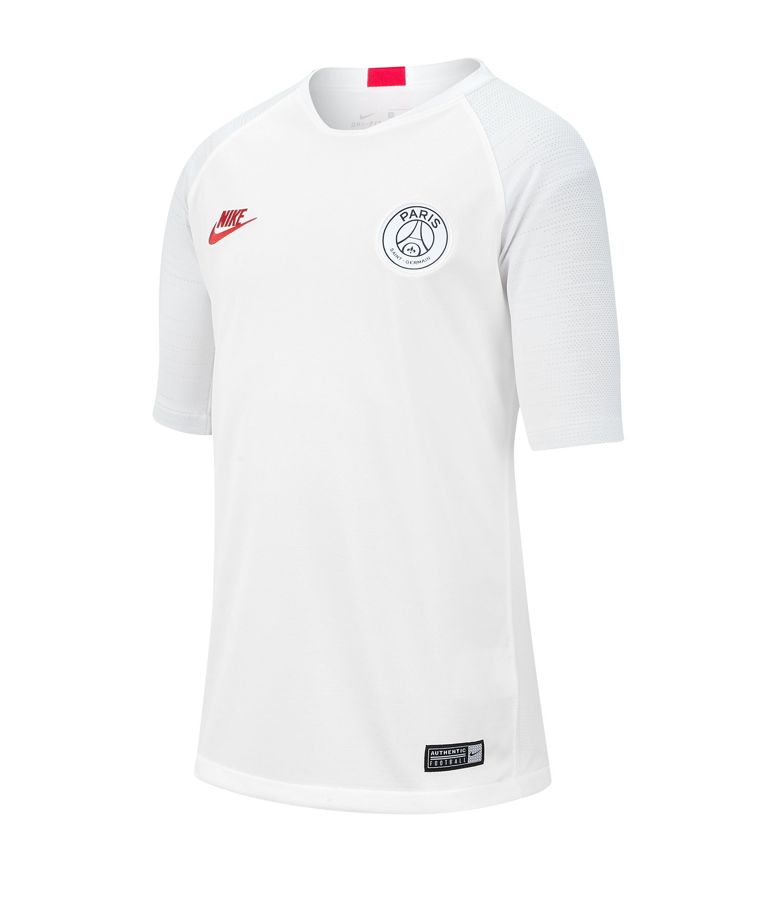 Nike Paris St. Germain Trainingsshirt Kids F104 - weiss