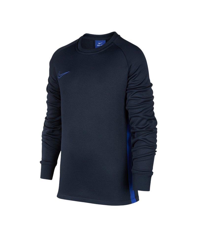 Nike Academy Therma Crew Sweatshirt Kids F451 - blau