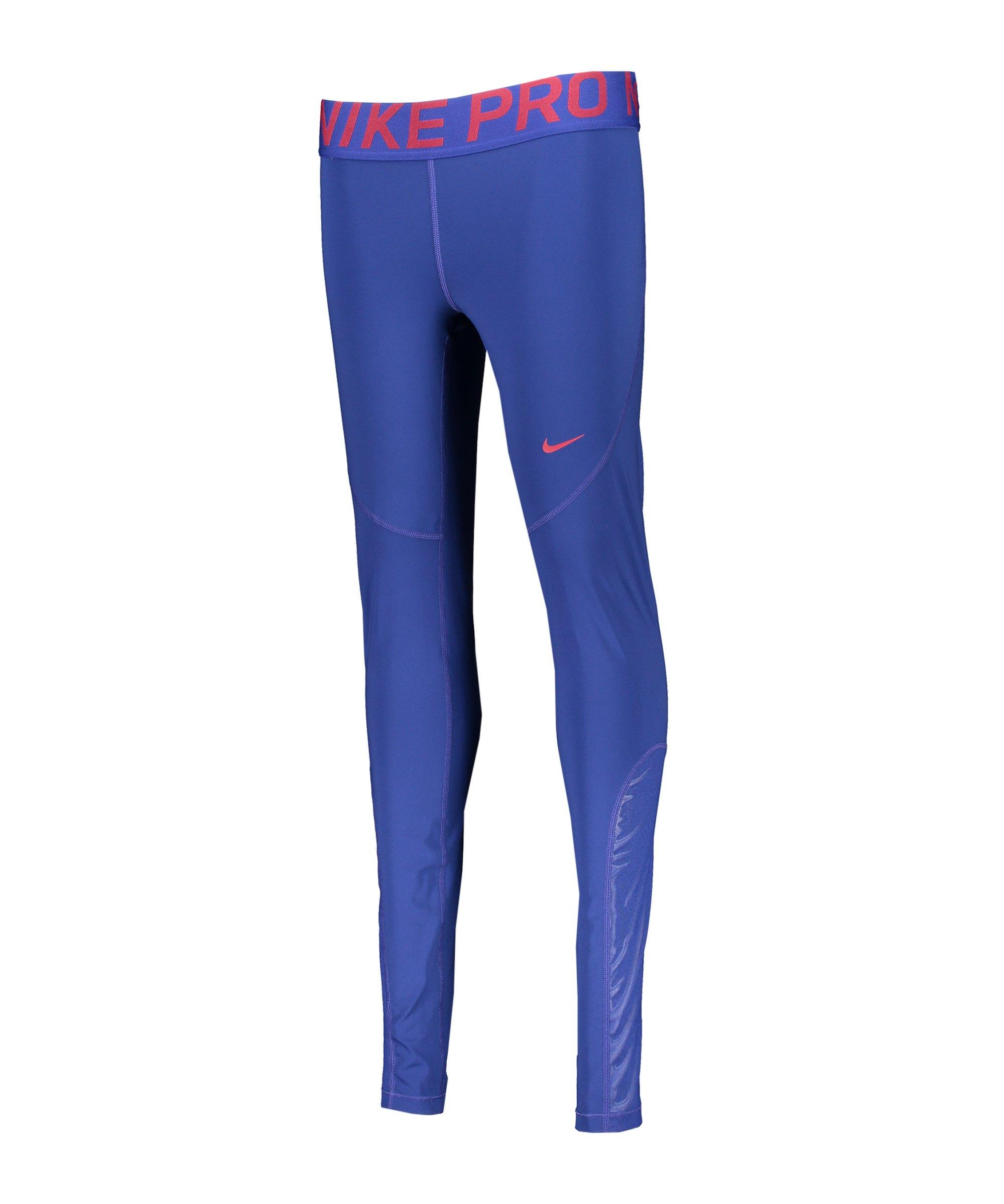 Nike Pro Tights Leggings Damen Blau Rot F455 - blau