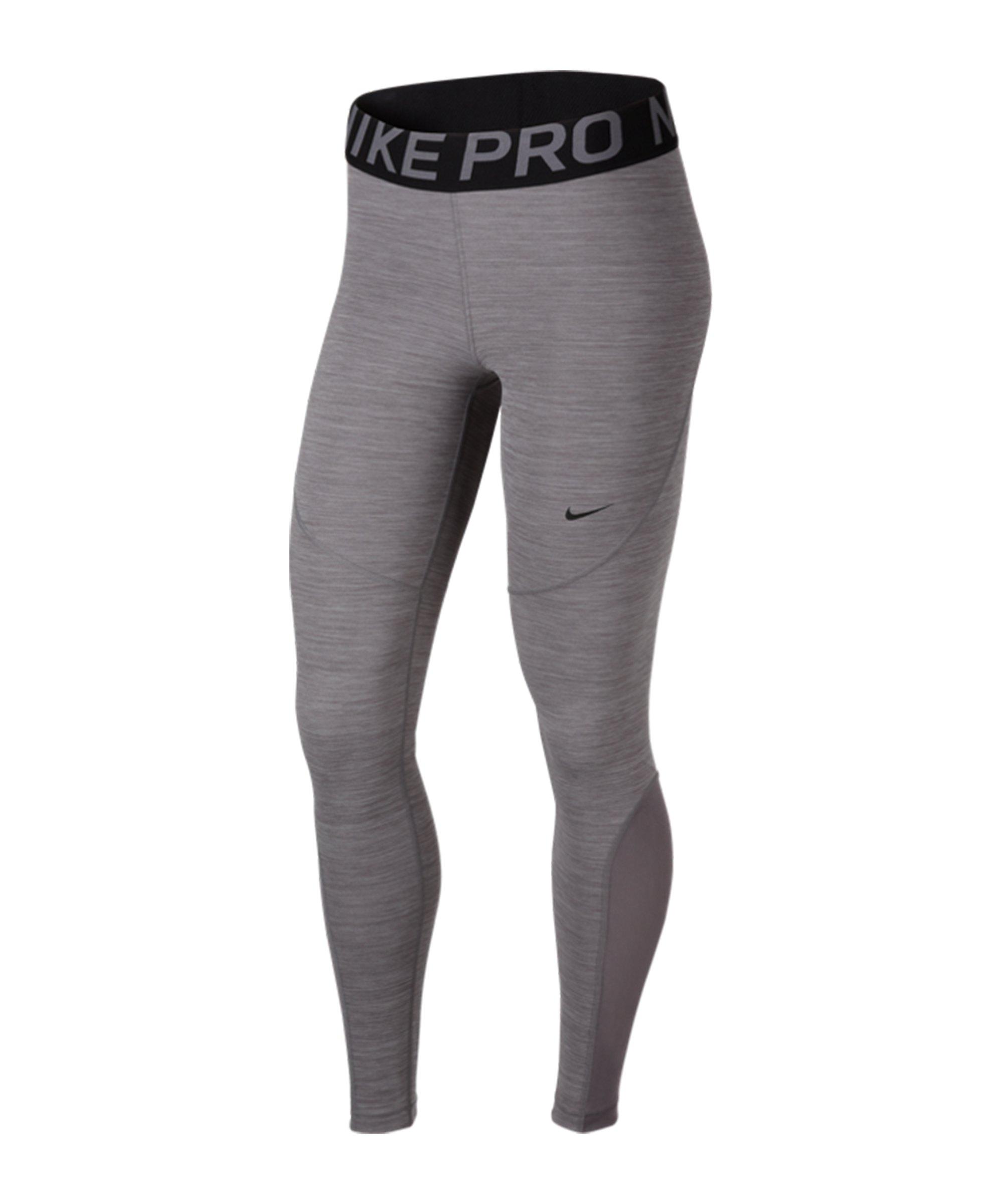 Nike Pro Tights Leggings Damen Grau Schwarz F063 - grau