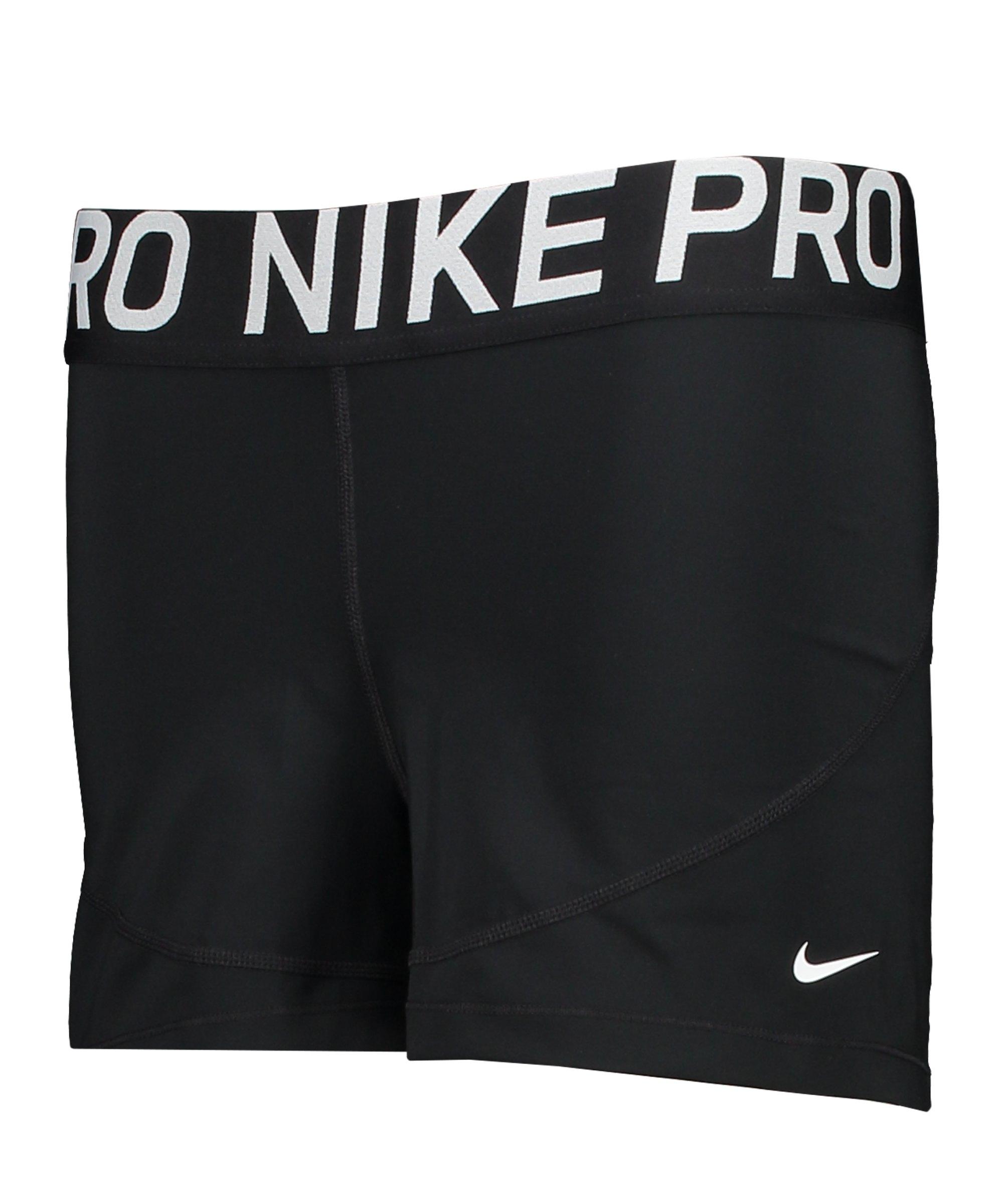 Nike Pro Short Damen Schwarz F010 - schwarz