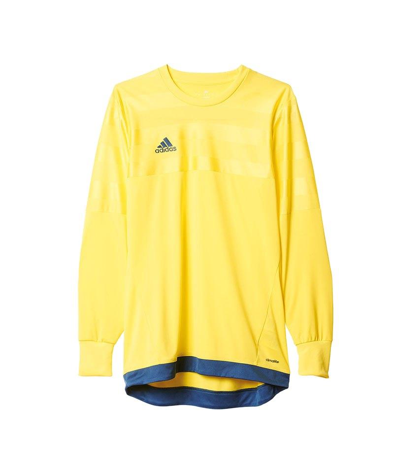 adidas Torwarttrikot Entry 15 Kinder Gelb Blau - gelb
