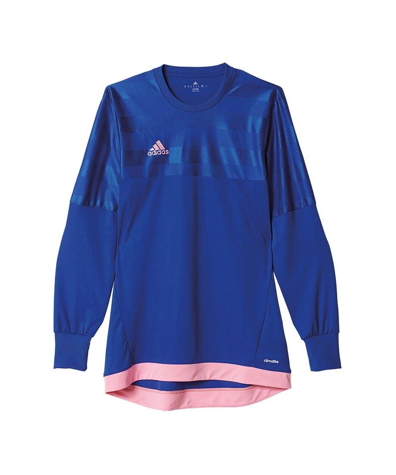 adidas Torwarttrikot Entry 15 Blau Pink - blau