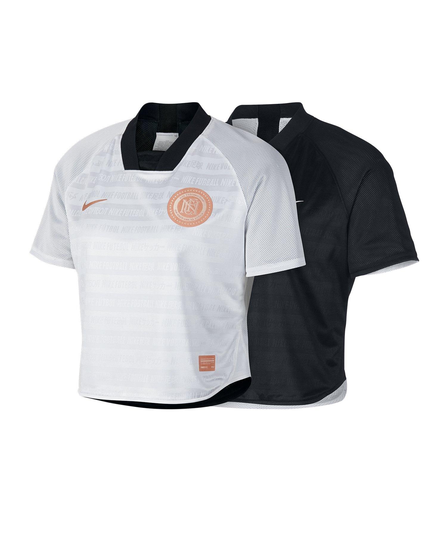 Nike F.C. Crop Top Damen Schwarz Weiss F010 - Schwarz
