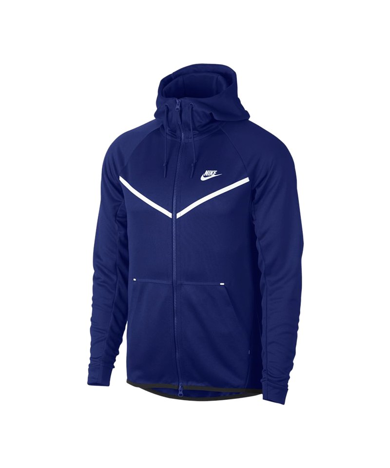 Nike Tech Fleece Windrunner Kapuzenjacke Blau F455 - blau