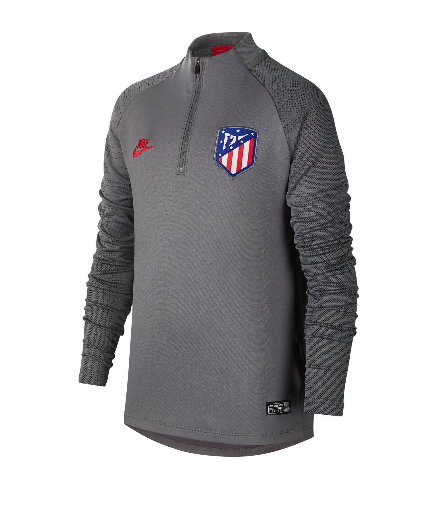 Nike Atletico Madrid Drill Top langarm Kids F060 - grau