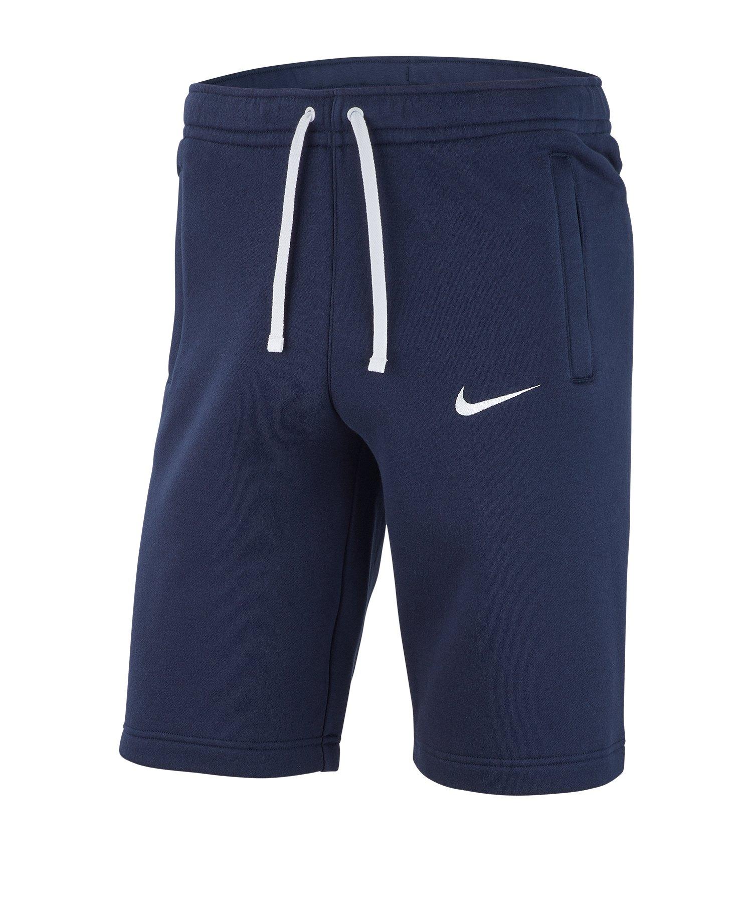 Nike Club 19 Fleece Short Kids Blau Weiss F451 - blau