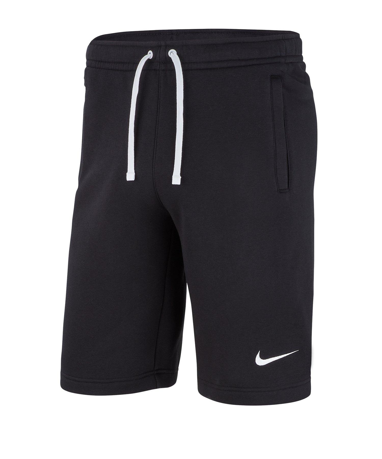 Nike Club 19 Fleece Short Kids Schwarz Weiss F010 - schwarz