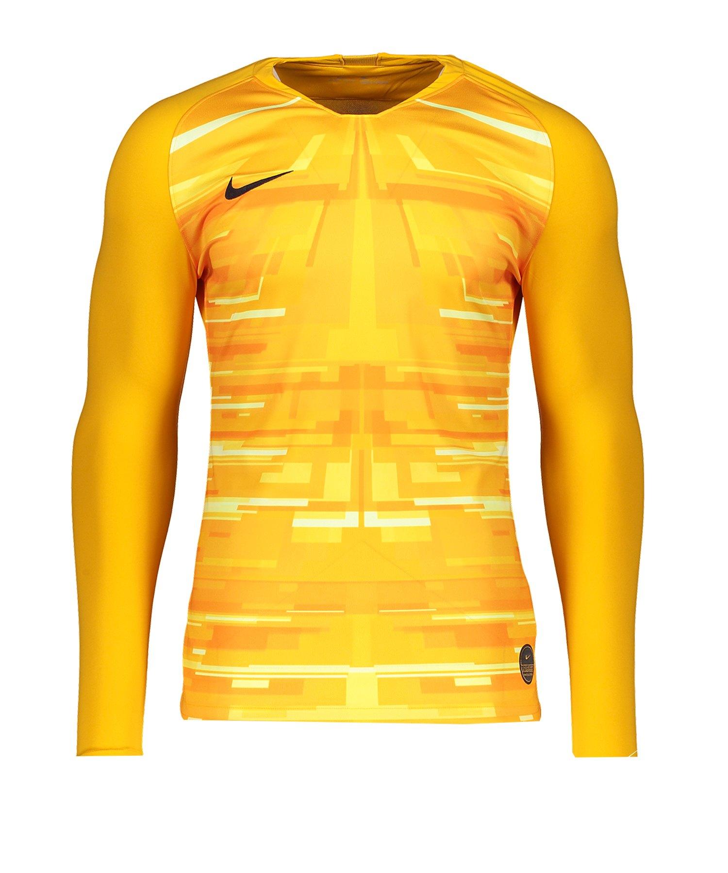Nike Promo GK-Jersey LS Gelb Schwarz F739 - gelb
