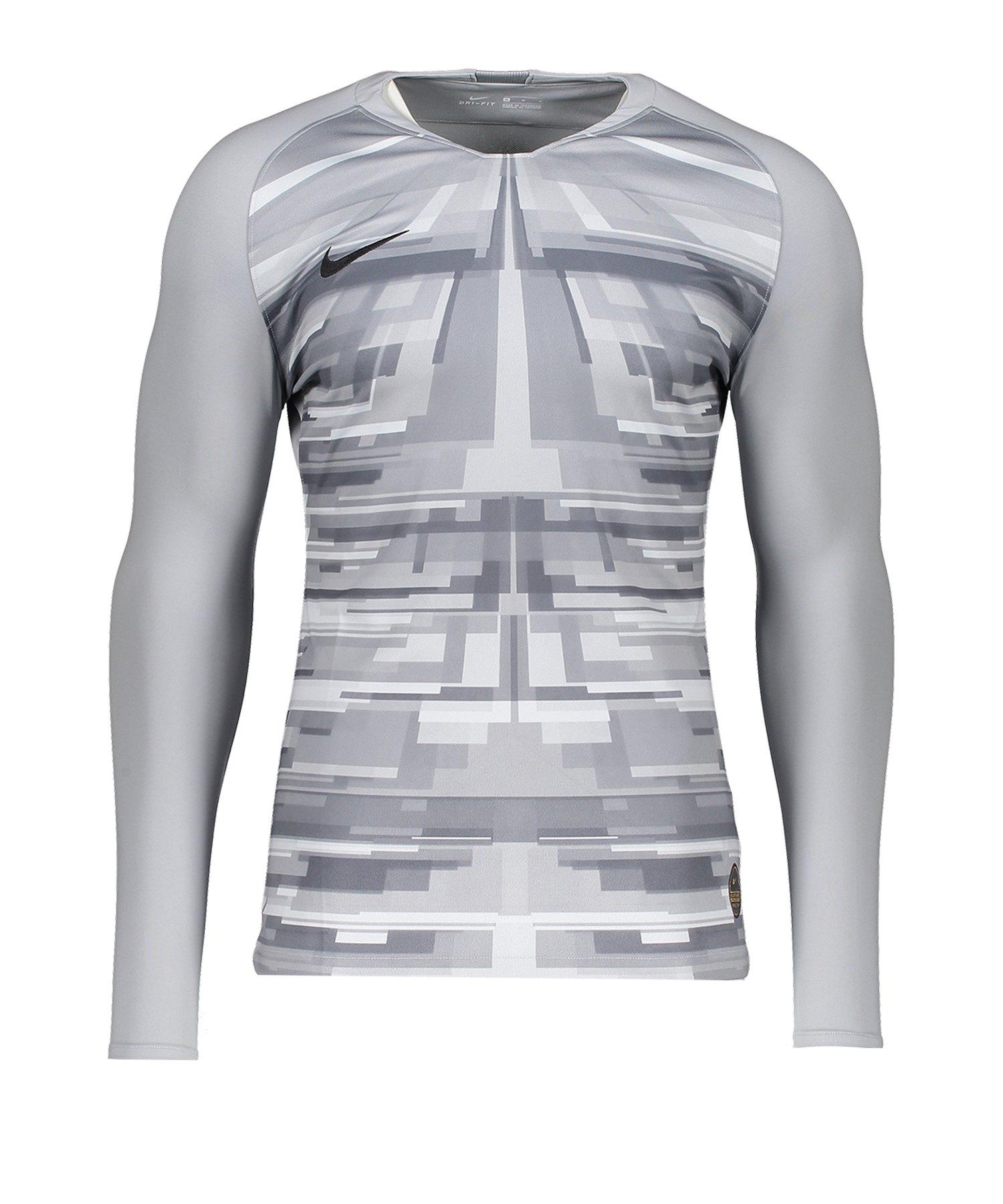 Nike Promo GK-Jersey LS Grau Schwarz F012 - grau