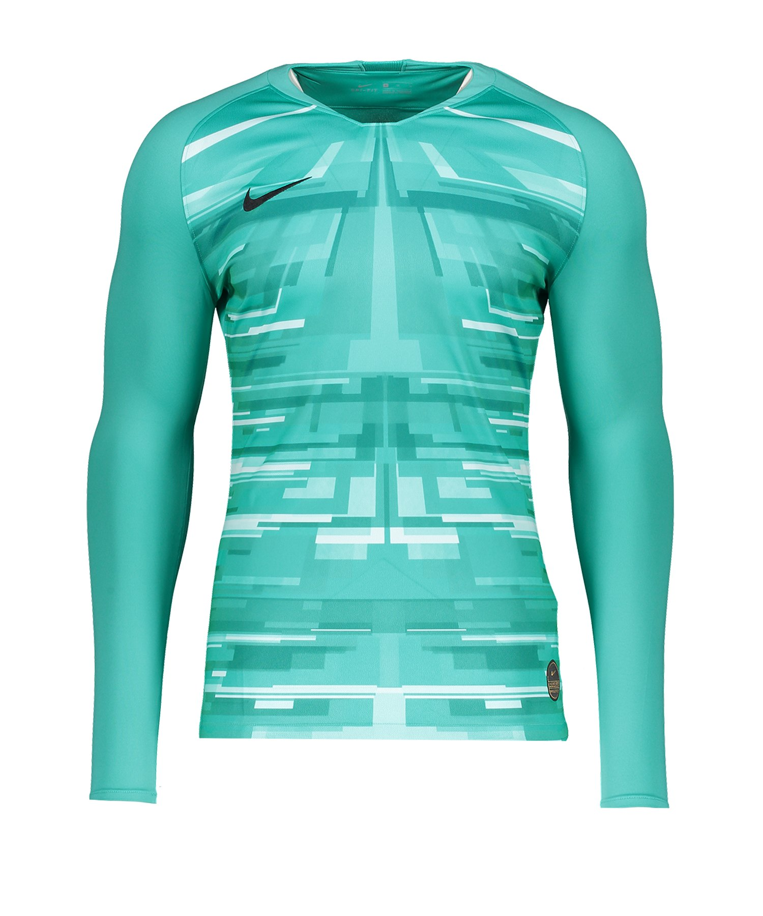 Nike Promo GK-Jersey LS Grün Weiss F317 - blau