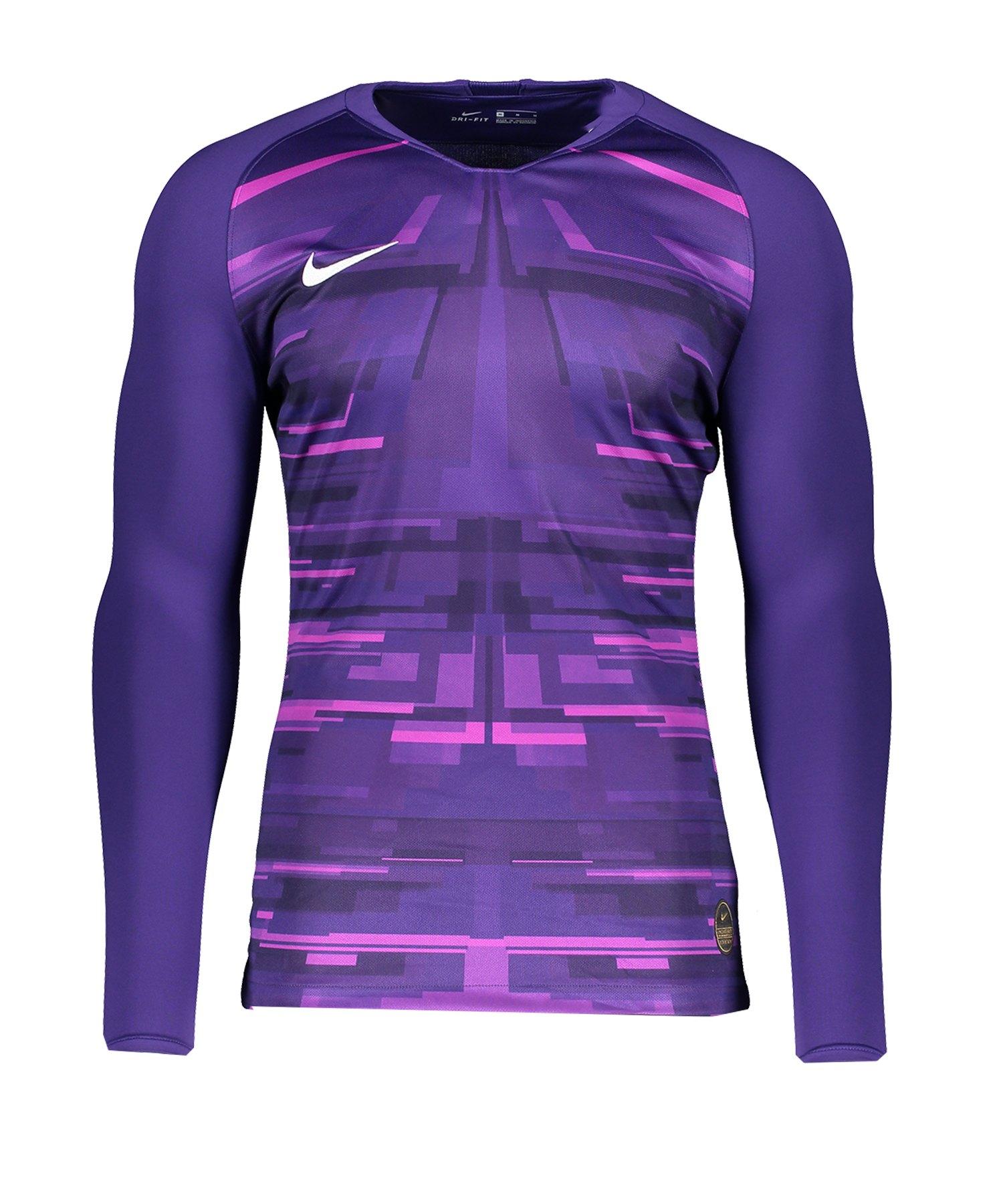Nike Promo GK-Jersey LS Lila Weiss F547 - lila