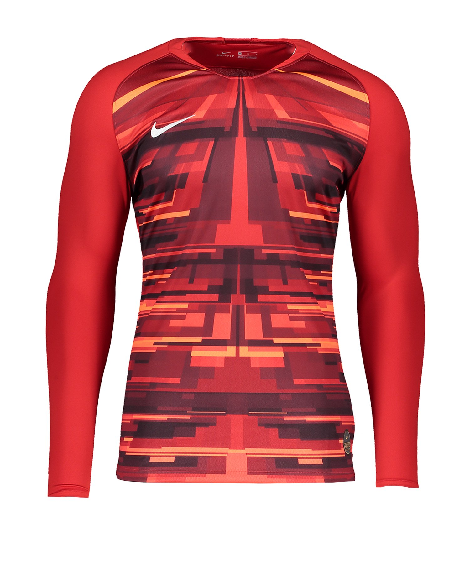 Nike Promo GK-Jersey LS Rot Weiss F657 - rot