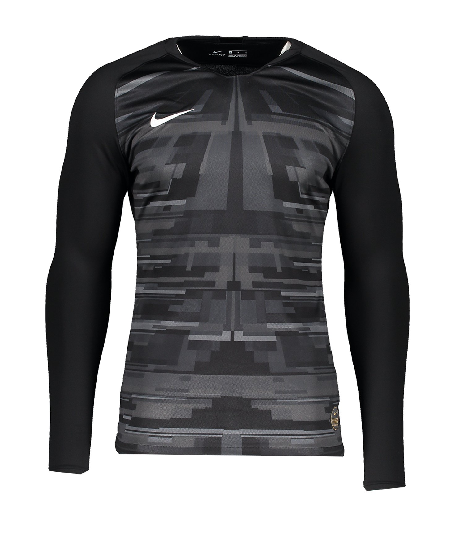 Nike Promo GK-Jersey LS Schwarz Weiss F010 - schwarz