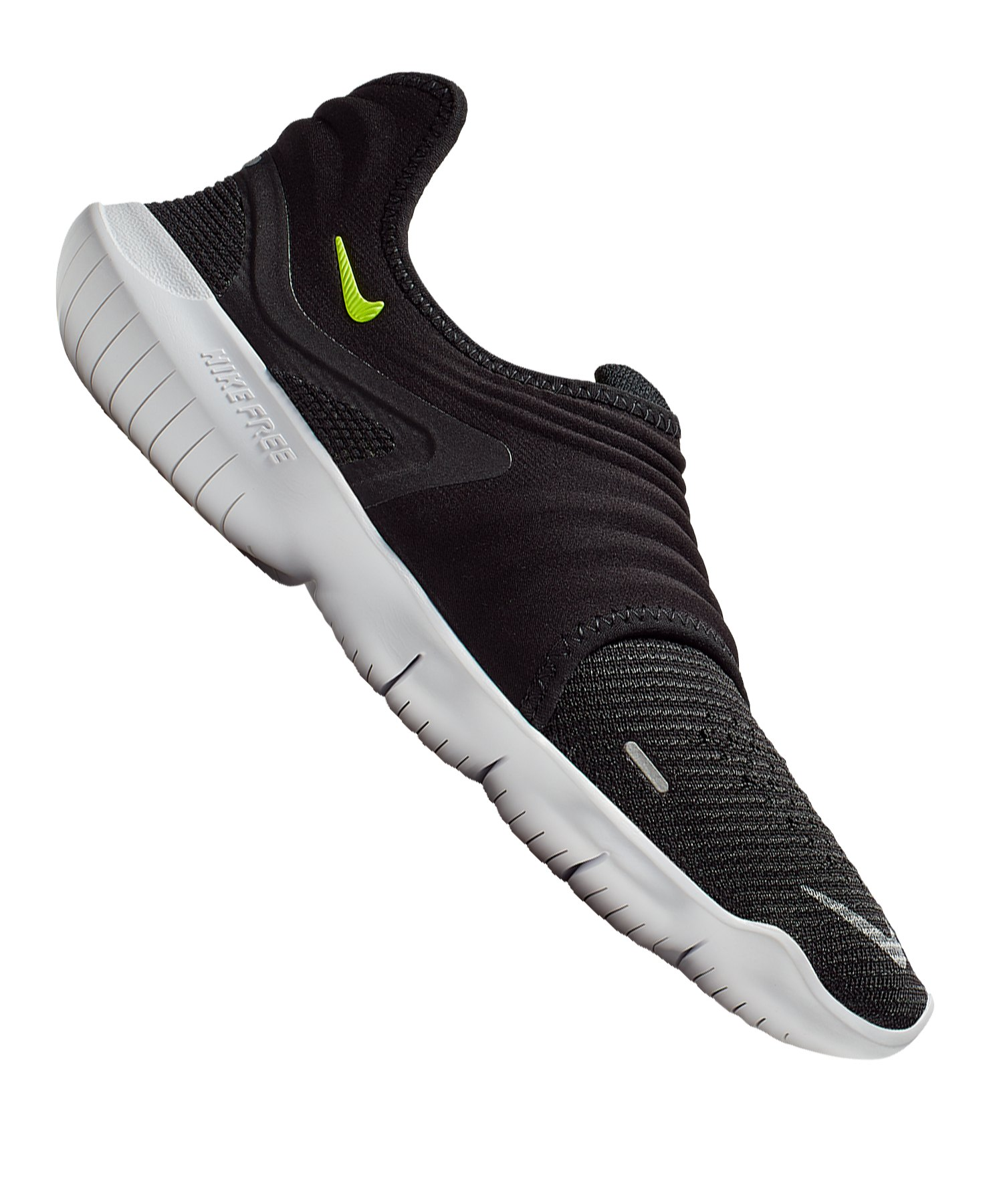 Nike Free RN Flyknit 3.0 Running Damen F001 - schwarz