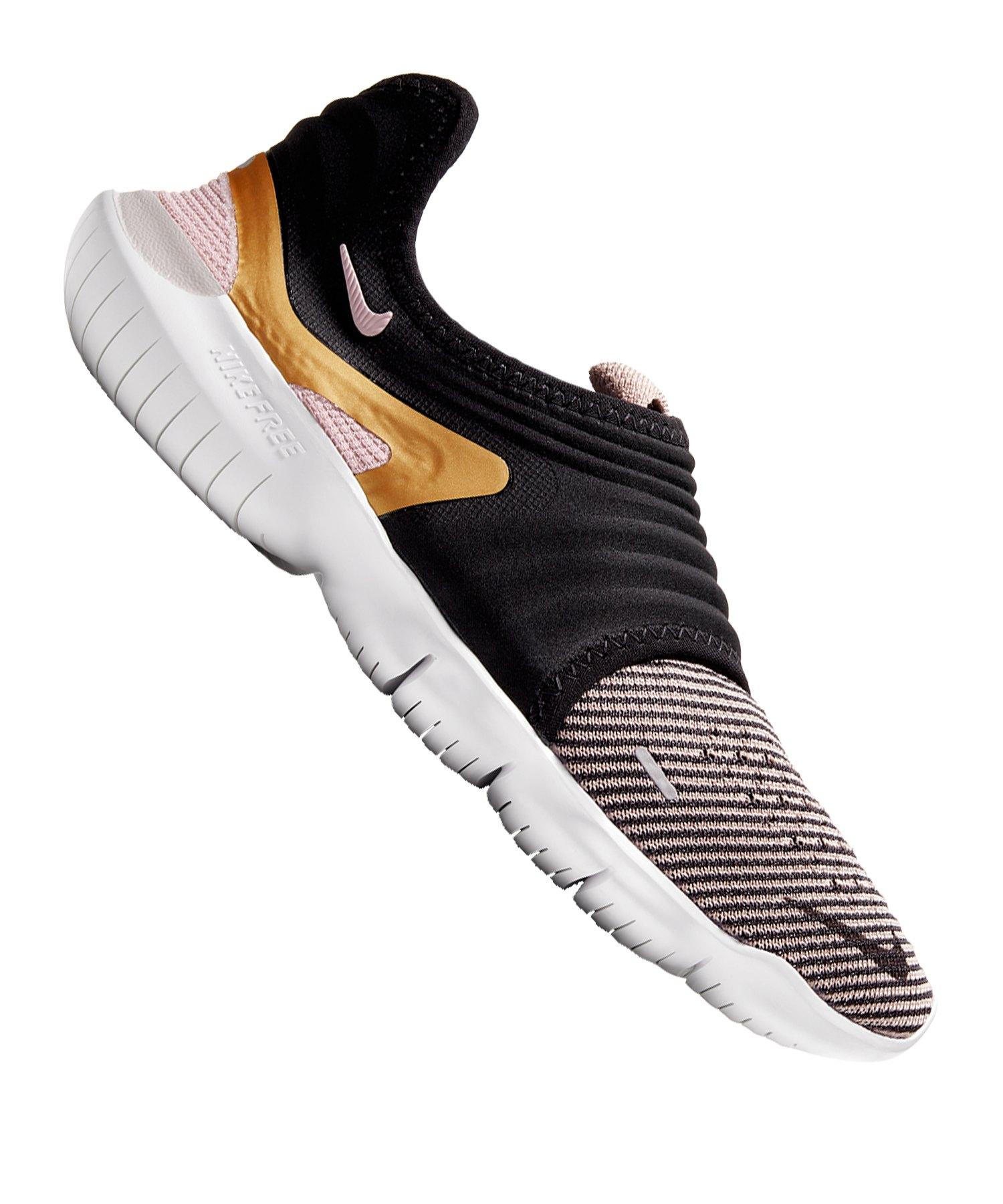 Nike Free RN Flyknit 3.0 Running Damen F010 - schwarz