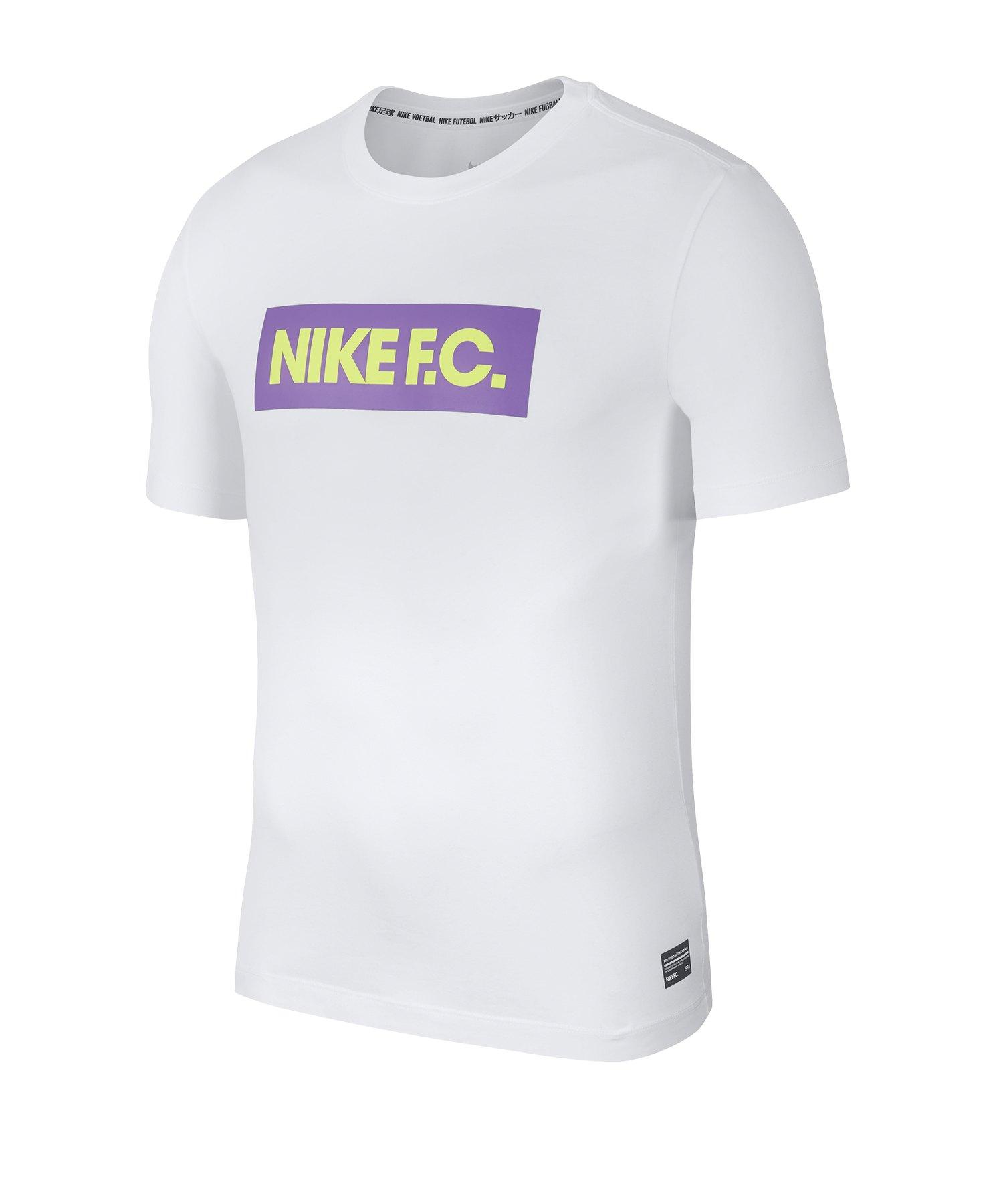 Nike F.C. Seasonal Block T-Shirt F100 - weiss