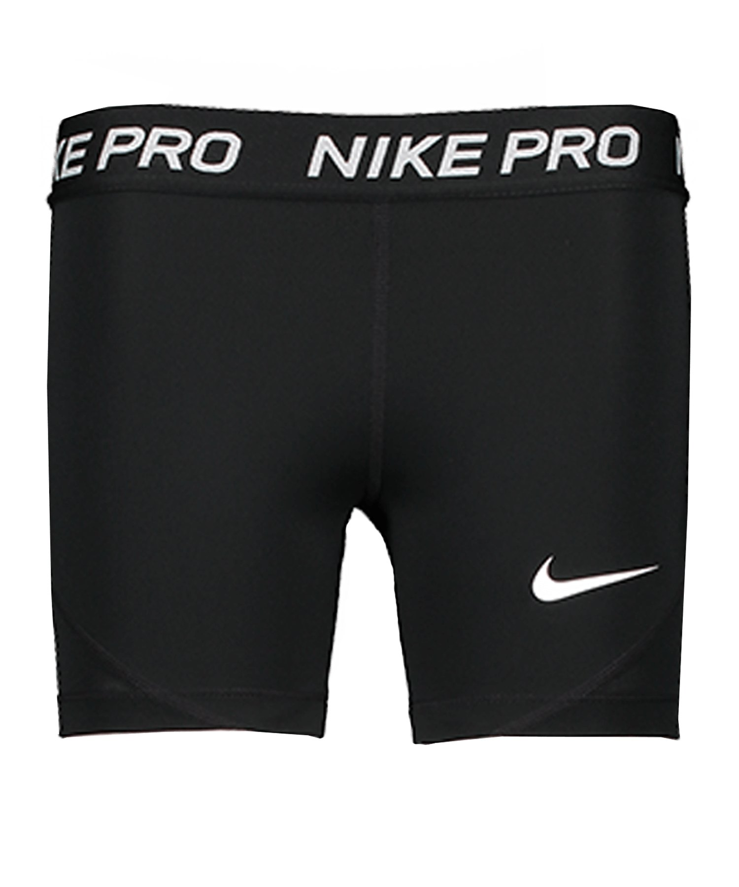 Nike Pro Training Shorts Kids Schwarz Weiss F010 - schwarz