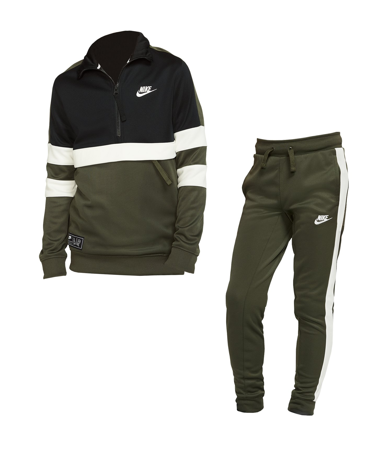 reputable site 5bf31 6b055 Nike Air Track Suit Anzug Kids Grün F325