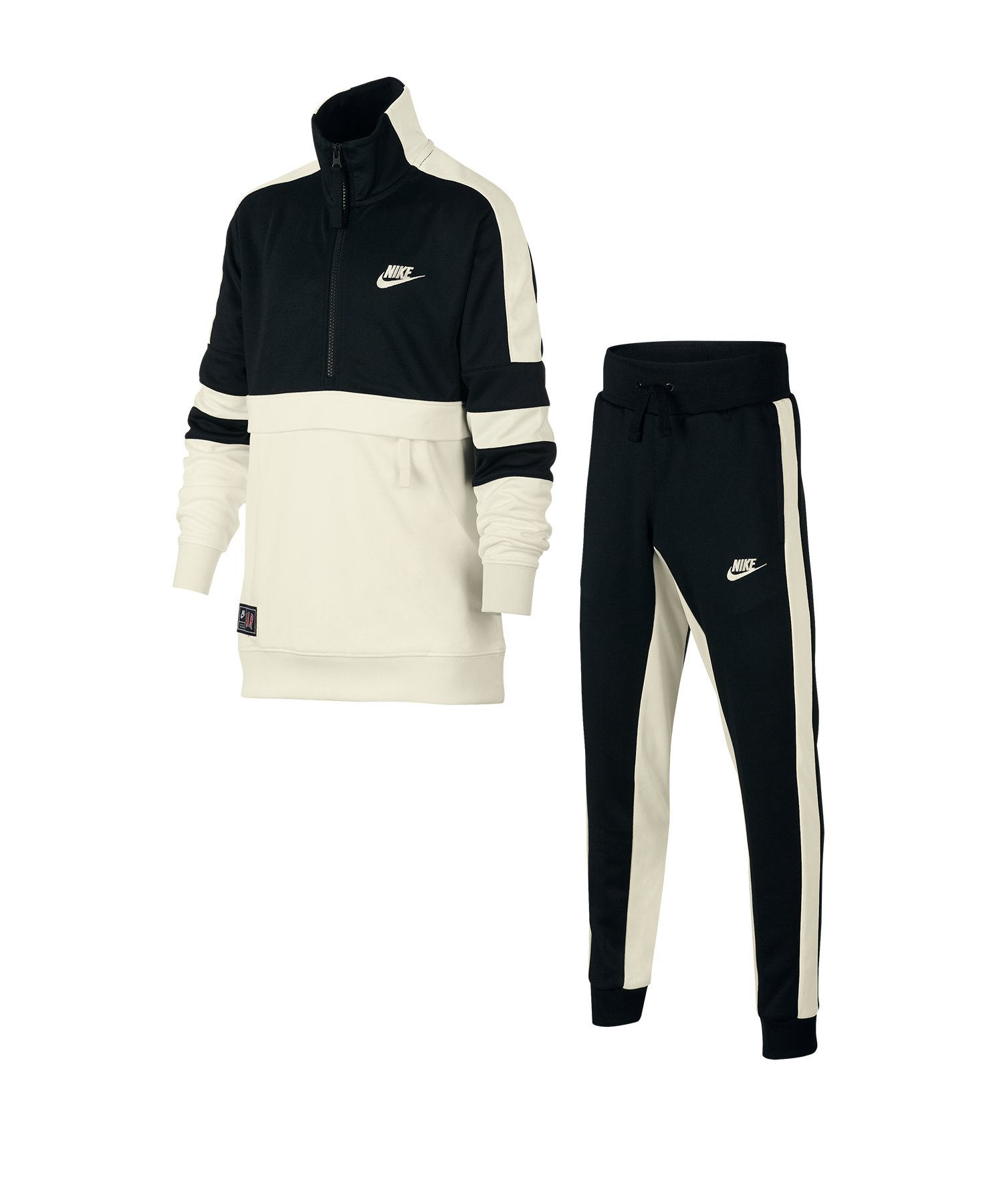 buy popular 52104 44354 Nike Air Track Suit Anzug Kids Schwarz F010